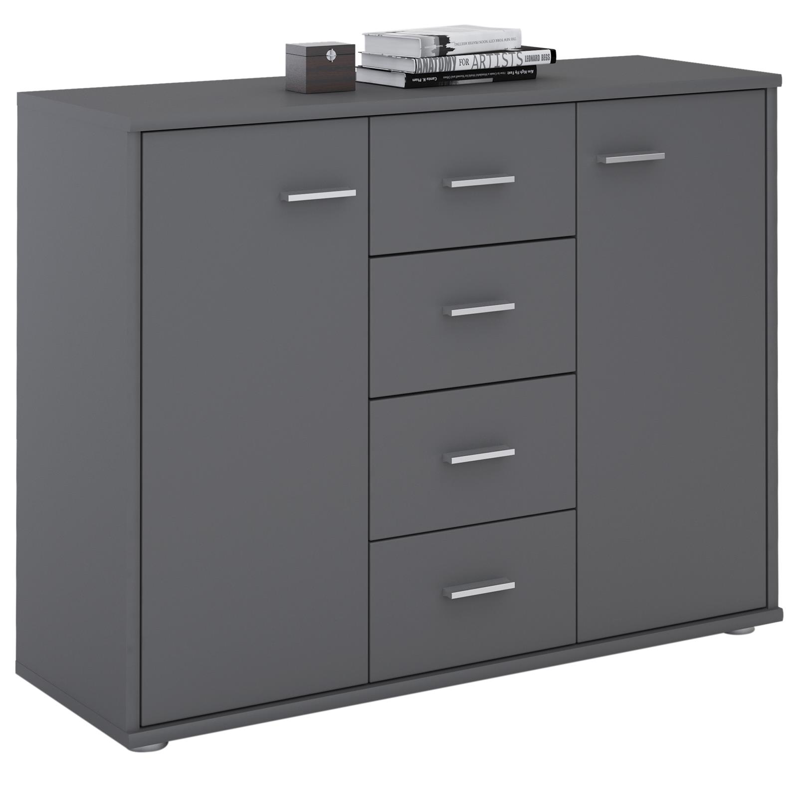 sideboard kommode mehrzweckschrank f r wohnzimmer anrichte design 2 t ren ebay. Black Bedroom Furniture Sets. Home Design Ideas