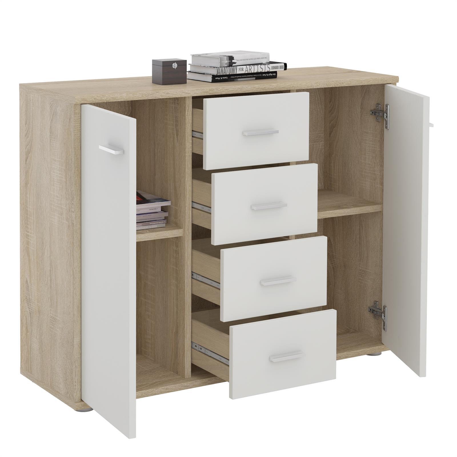 sideboard kommode mehrzweckschrank f r wohnzimmer anrichte design 2 t ren ebay. Black Bedroom Furniture Sets. Home Design Ideas