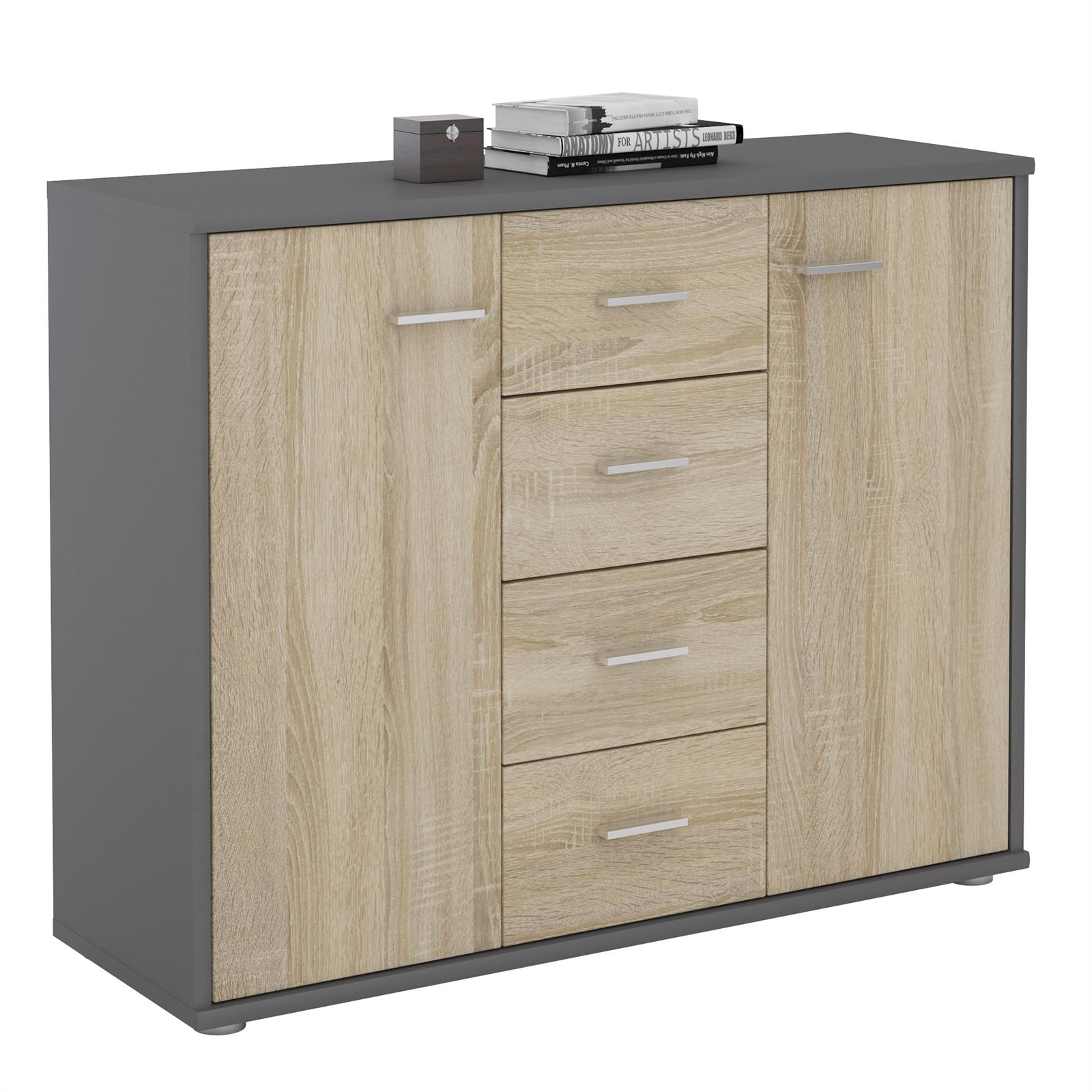 sideboard jamie in grau sonoma eiche caro m bel. Black Bedroom Furniture Sets. Home Design Ideas
