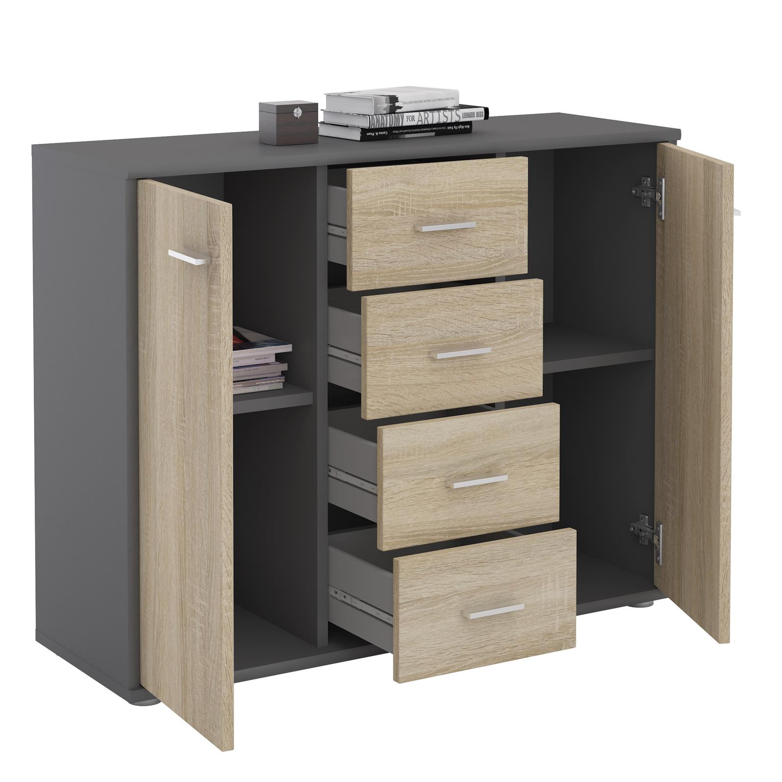 sideboard jamie in grau sonoma eiche caro m bel. Black Bedroom Furniture Sets. Home Design Ideas