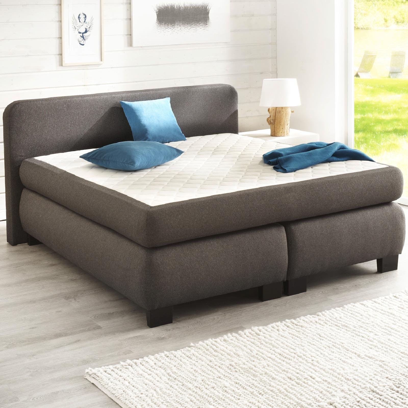 boxspringbett set lars mit matratze lederoptik caro m bel. Black Bedroom Furniture Sets. Home Design Ideas