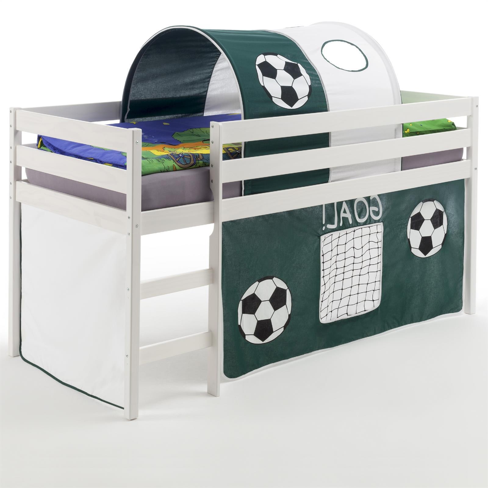 hochbett mit fu ball vorhang tunnel caro m bel. Black Bedroom Furniture Sets. Home Design Ideas