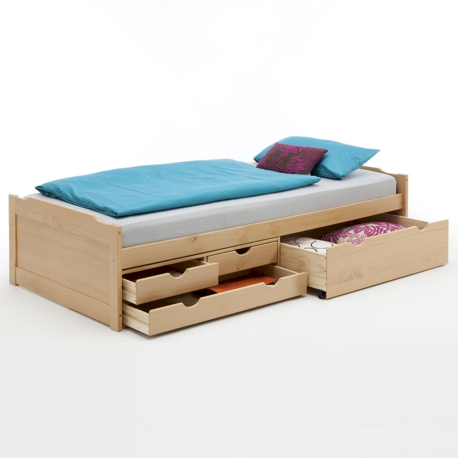 funktionsbett mit stauraum buchefarben caro m bel. Black Bedroom Furniture Sets. Home Design Ideas