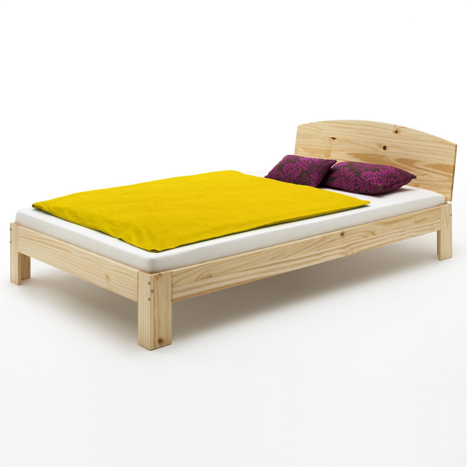 Massivholz doppelbett 140 x 200 cm natur caro m bel for Doppelbett 140