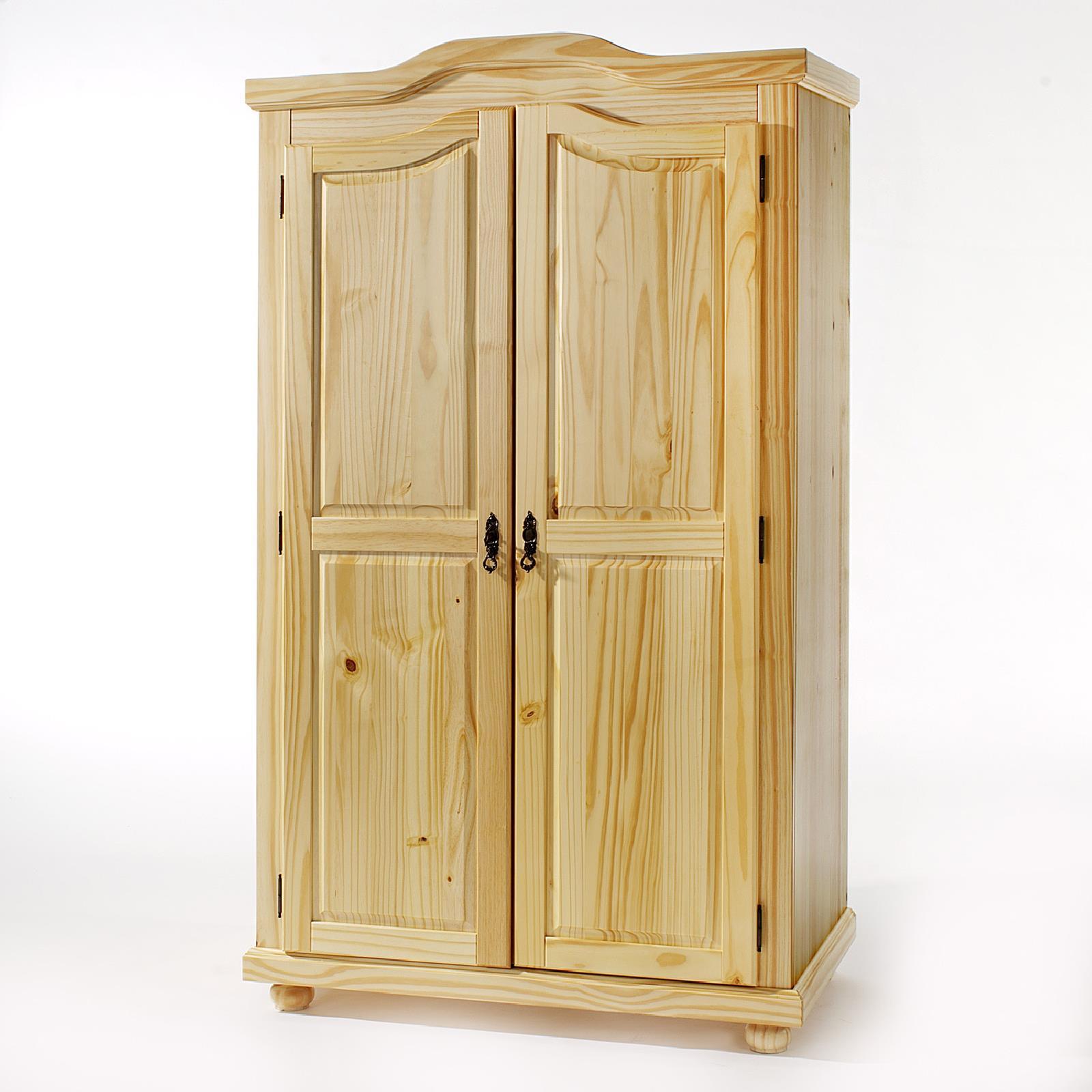kleiderschrank aus kiefer in natur lackiert caro m bel. Black Bedroom Furniture Sets. Home Design Ideas