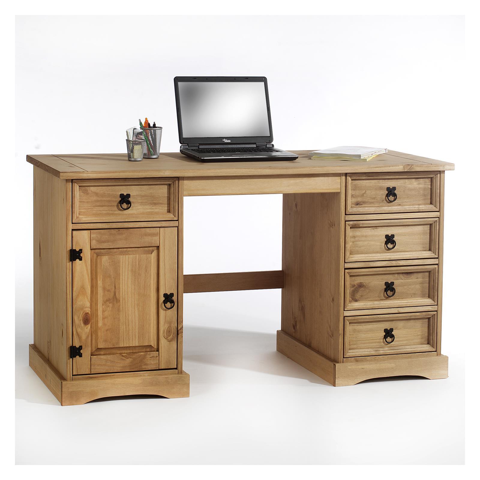 Schreibtisch Mexico Möbel, Kiefer massiv | CARO-Möbel