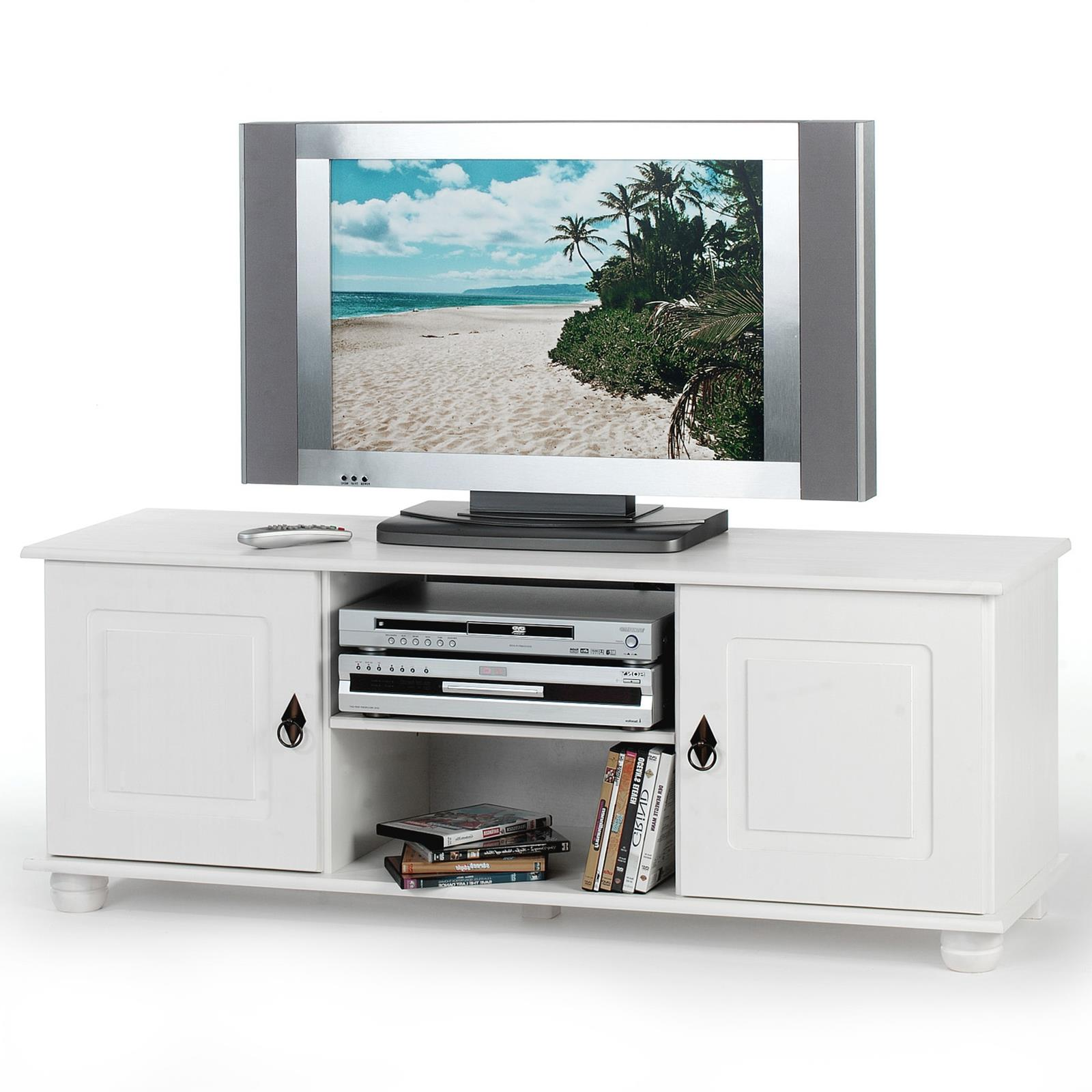 tv kommode kiefer massiv in wei lackiert caro m bel. Black Bedroom Furniture Sets. Home Design Ideas