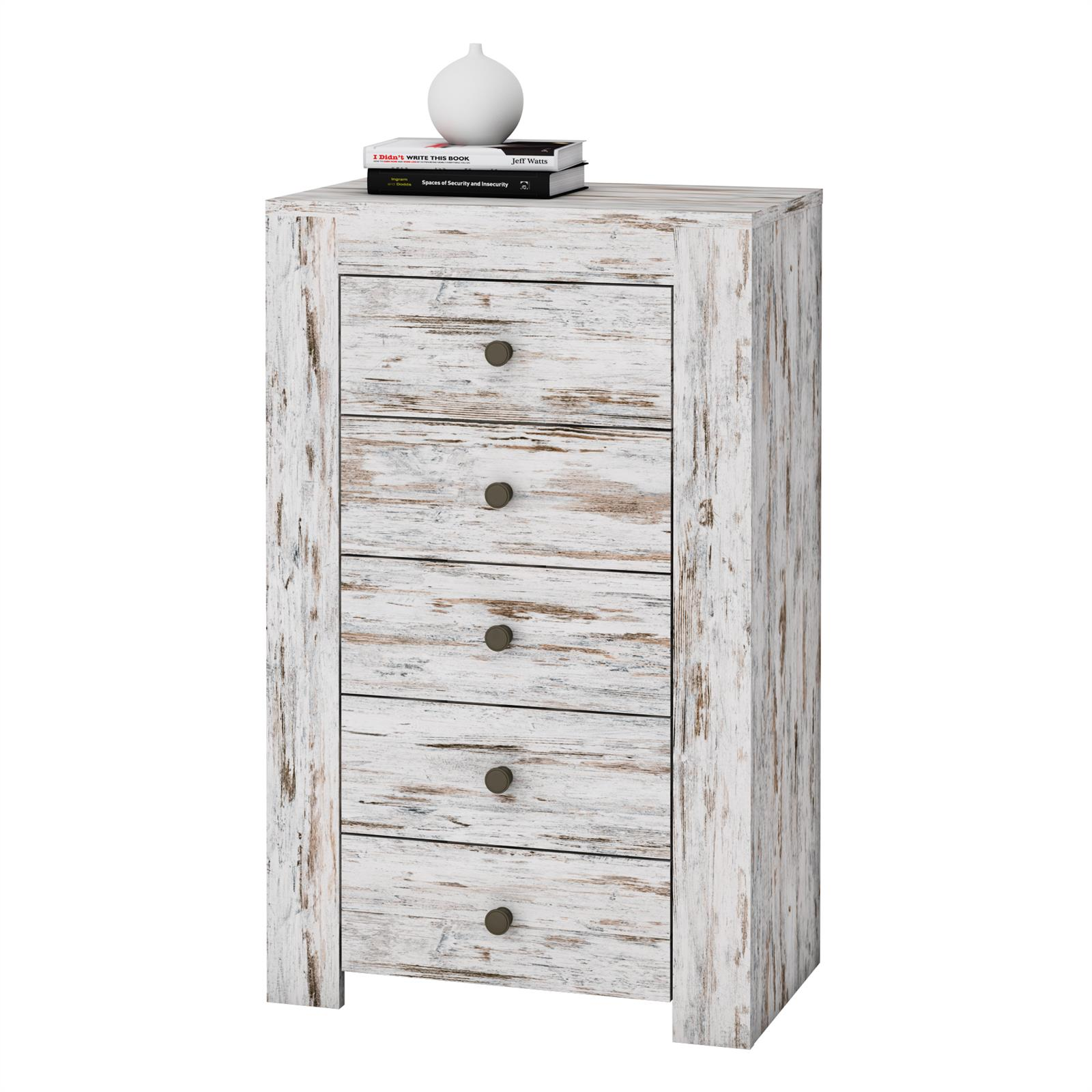 shabby chic kommode livio 60 cm mit 5 schubladen caro m bel. Black Bedroom Furniture Sets. Home Design Ideas