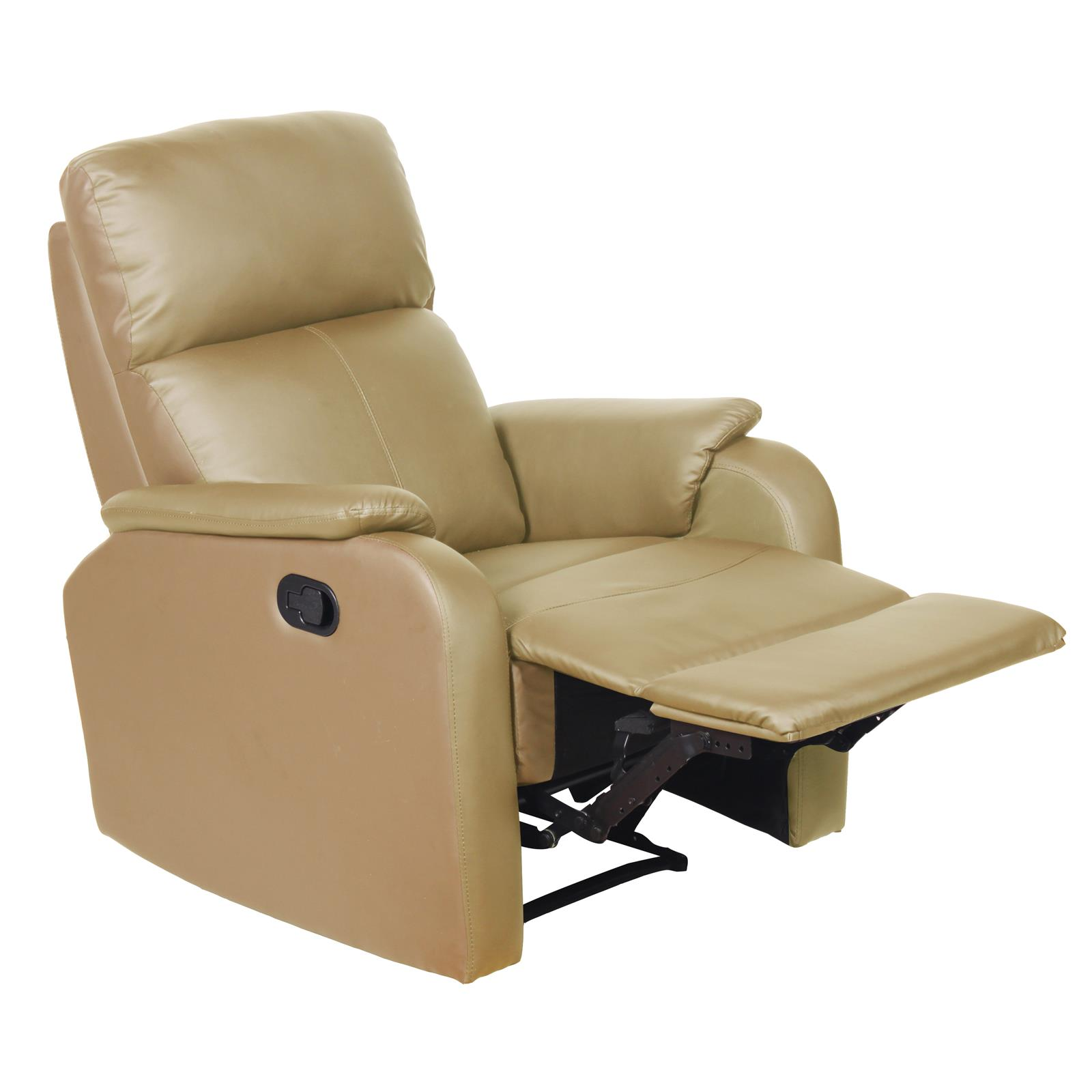 fernsehsessel relaxsessel aus kunstleder mit fu ablage liege tv ebay. Black Bedroom Furniture Sets. Home Design Ideas