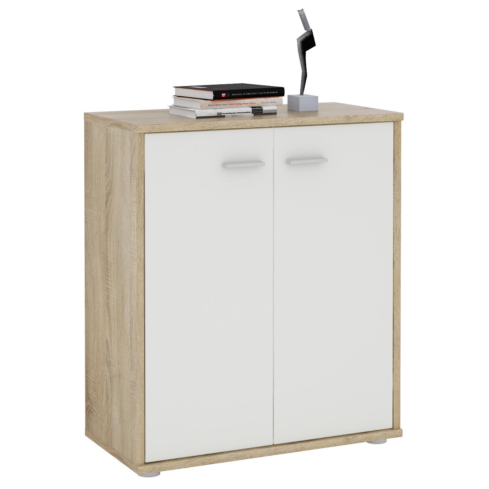kommode tommy in sonoma eiche wei 2 t ren caro m bel. Black Bedroom Furniture Sets. Home Design Ideas