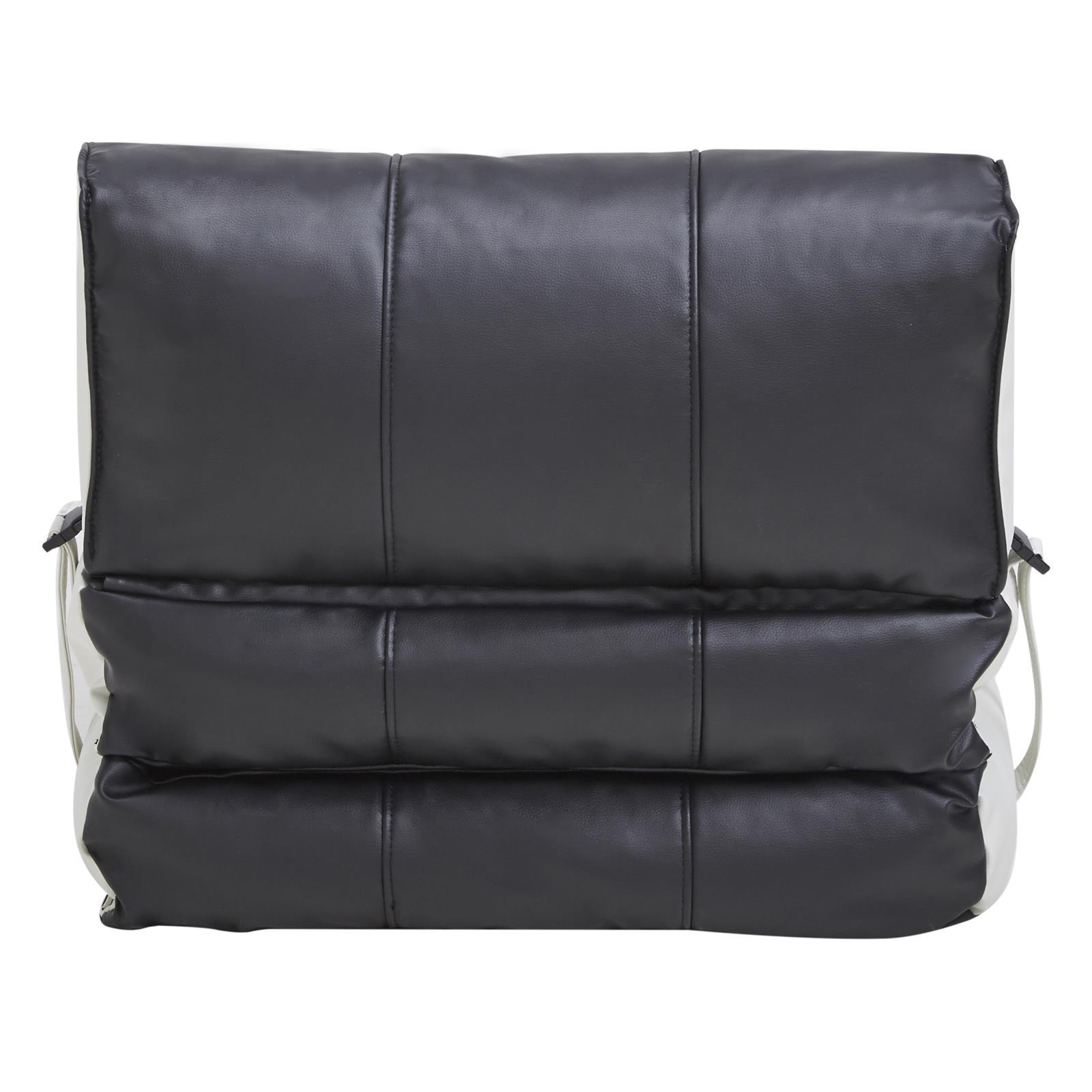 Schlafsessel Gästebett TOGO, Kunstleder in schwarz/weiß | CARO-Möbel