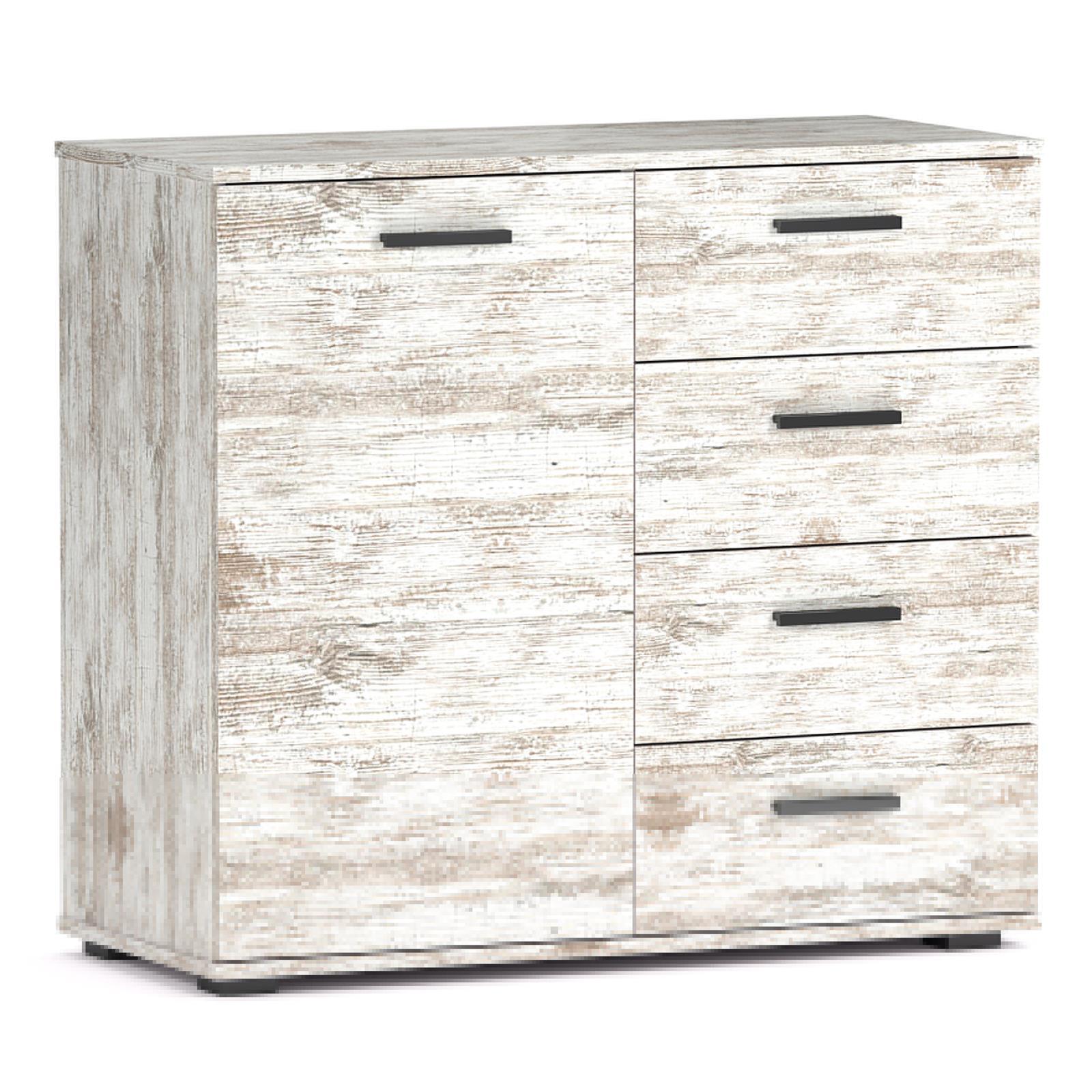 kommode chicago shabby chic 4 schubladen caro m bel. Black Bedroom Furniture Sets. Home Design Ideas