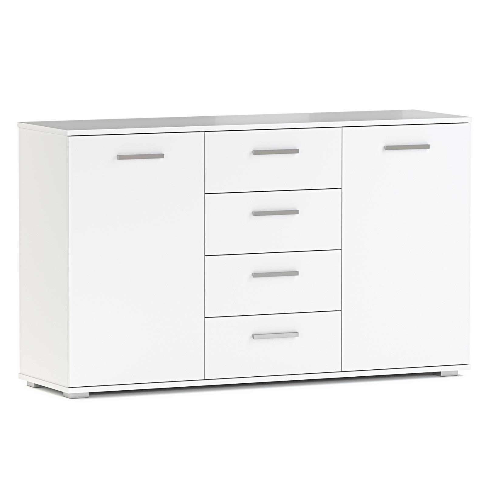 Faszinierend Kommode Mit Türen Weiß Sammlung Von Kommode-sideboard-anrichte-schrank-highboard-2-tueren-4-
