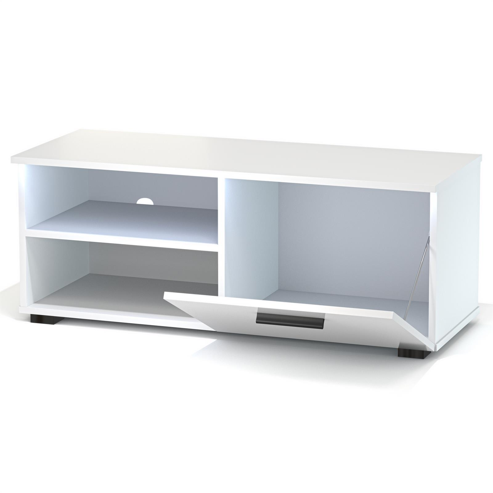 tv lowboard malibu in wei hochglanz mit led beleuchtung caro m bel. Black Bedroom Furniture Sets. Home Design Ideas