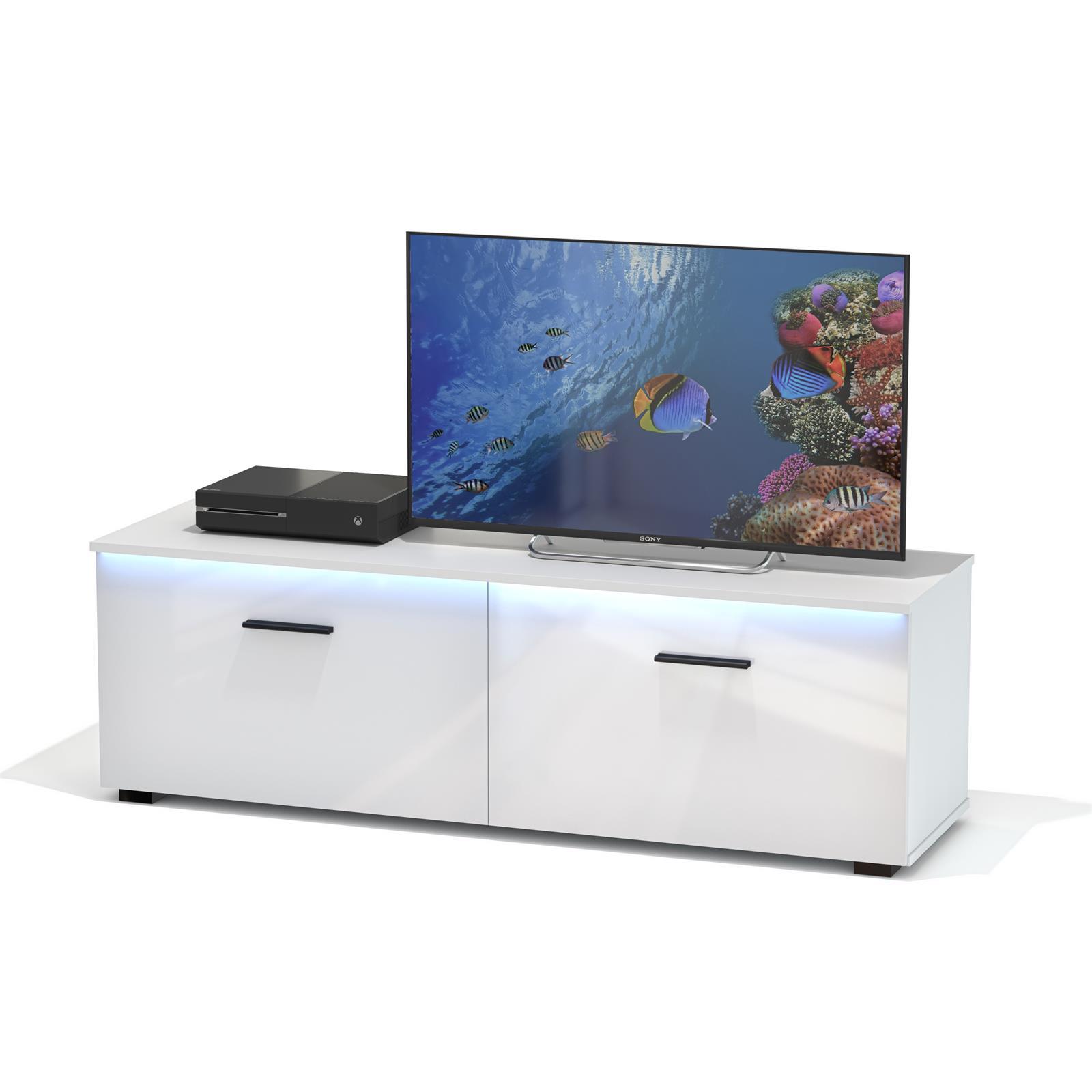 tv lowboard malibu wei hochglanz mit led beleuchtung. Black Bedroom Furniture Sets. Home Design Ideas