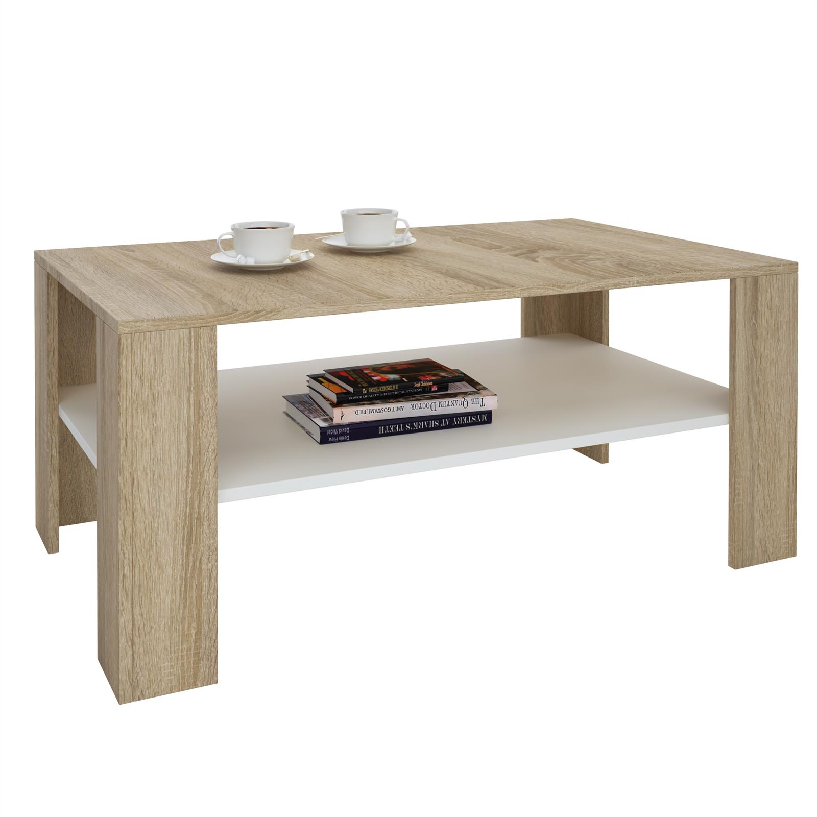 couchtisch wohnzimmer beistell sofa 100 x 60 cm in 12 farben mit ablage ebay. Black Bedroom Furniture Sets. Home Design Ideas