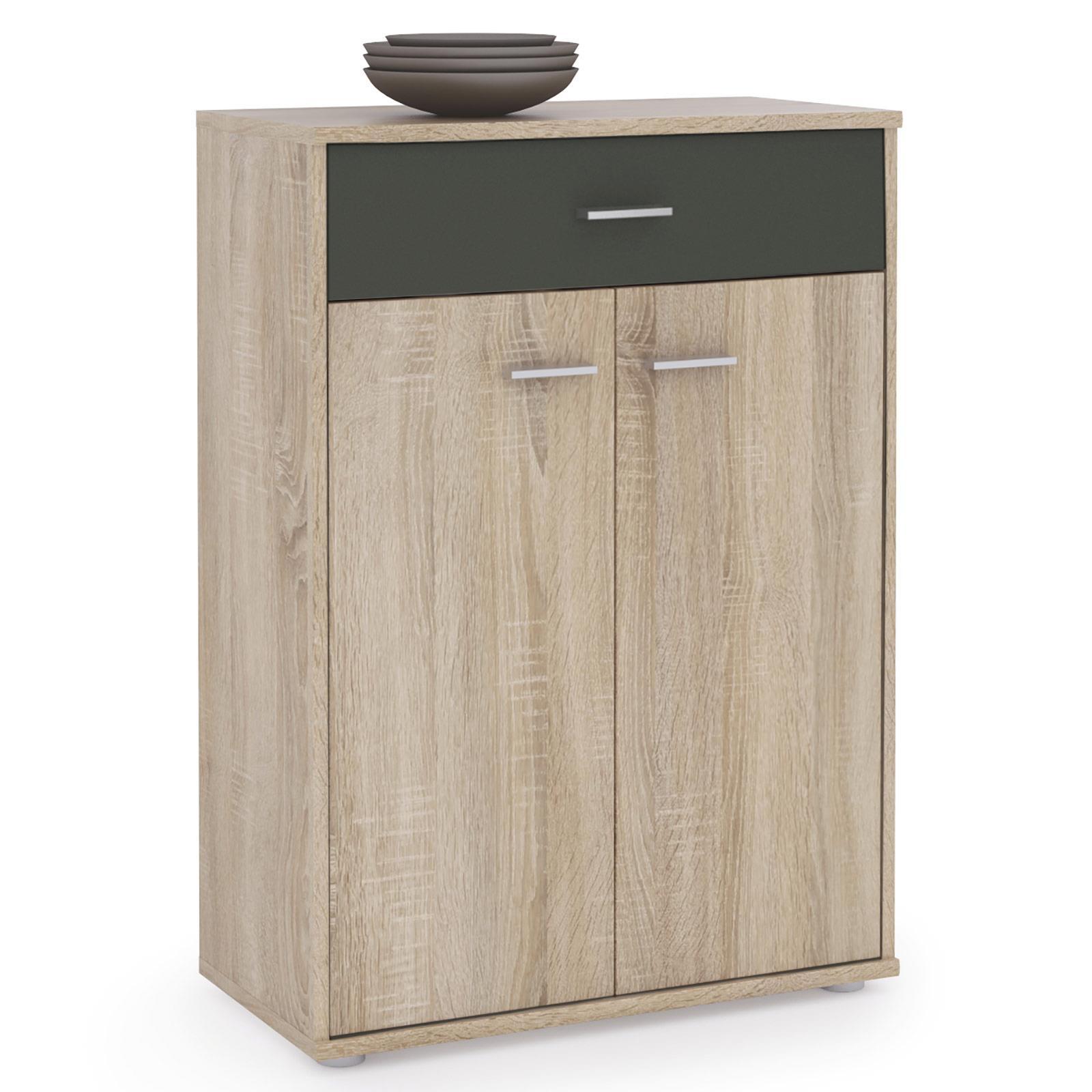 kommode tommy sonoma eiche grau 2 t ren 1 schublade caro m bel. Black Bedroom Furniture Sets. Home Design Ideas