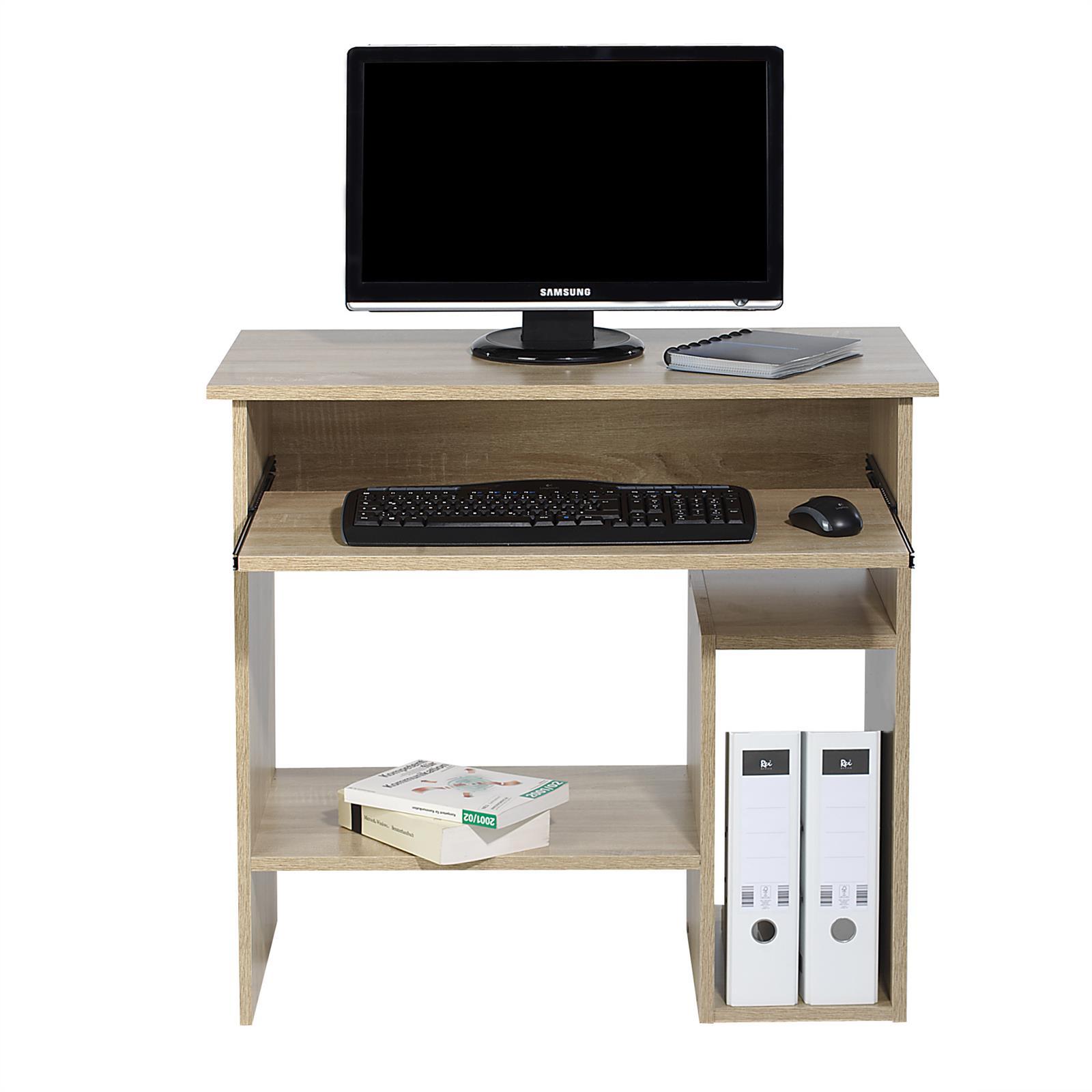 Computertisch schreibtisch in sonoma eiche mit for Computertisch schreibtisch