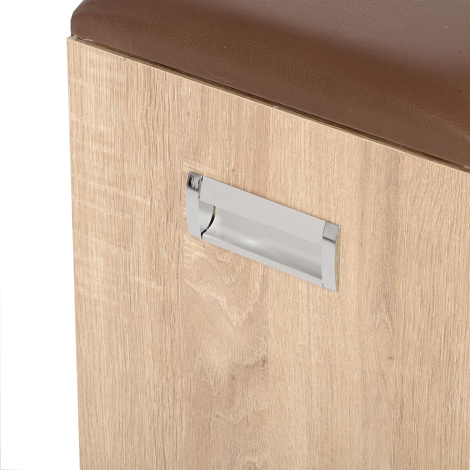 schuhbank zapato in sonoma eiche 60 cm breit mit kissen caro m bel. Black Bedroom Furniture Sets. Home Design Ideas