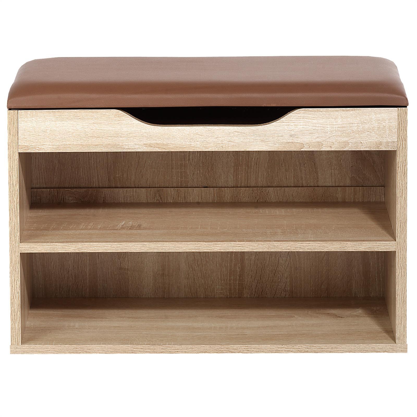schuhbank sitzbank truhe schuhregal mit kissen 6 paar schuhe schrank ablage 60cm ebay. Black Bedroom Furniture Sets. Home Design Ideas
