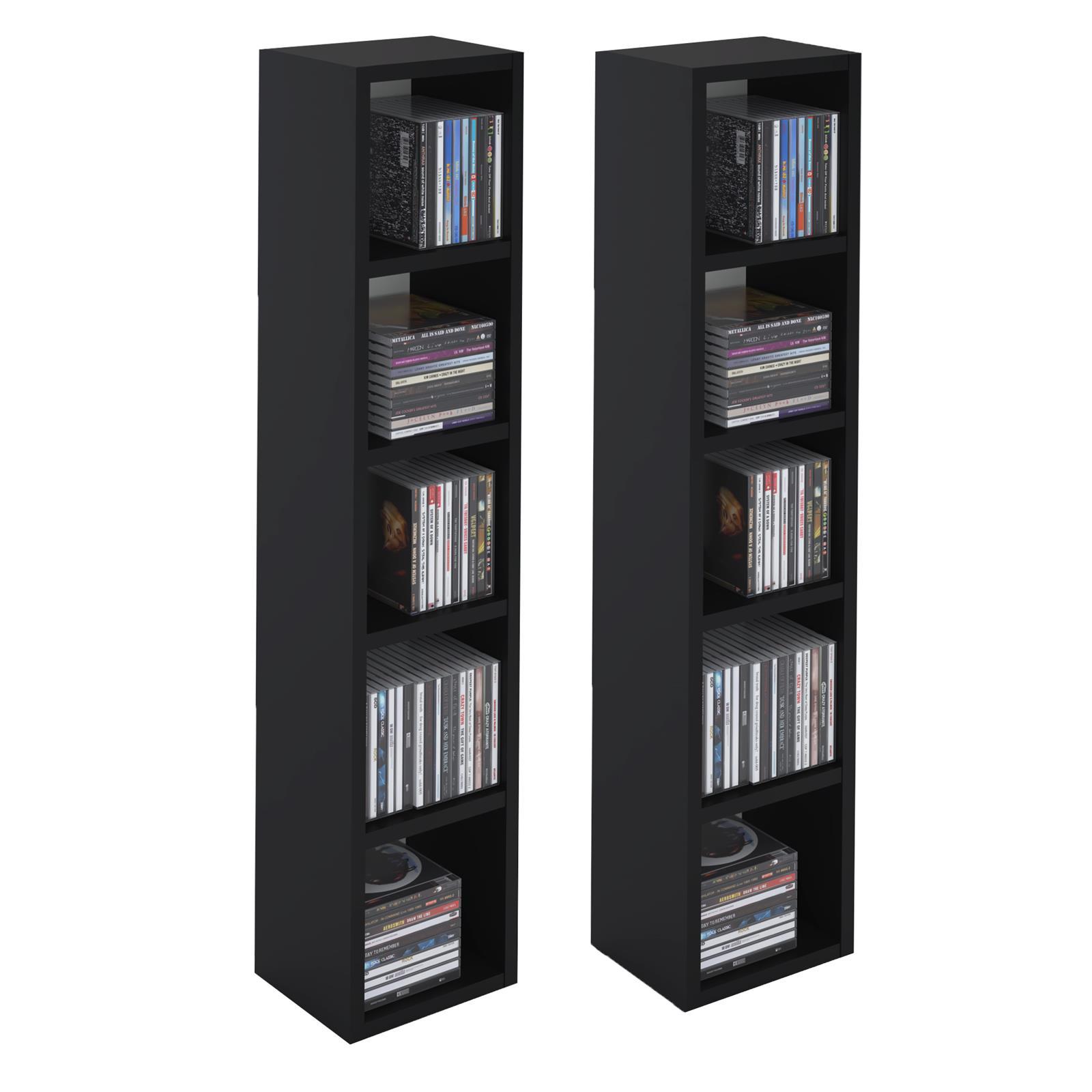 cd dvd blueray regal bis zu 160 cds turm st nder medien aufbewahrung ebay. Black Bedroom Furniture Sets. Home Design Ideas