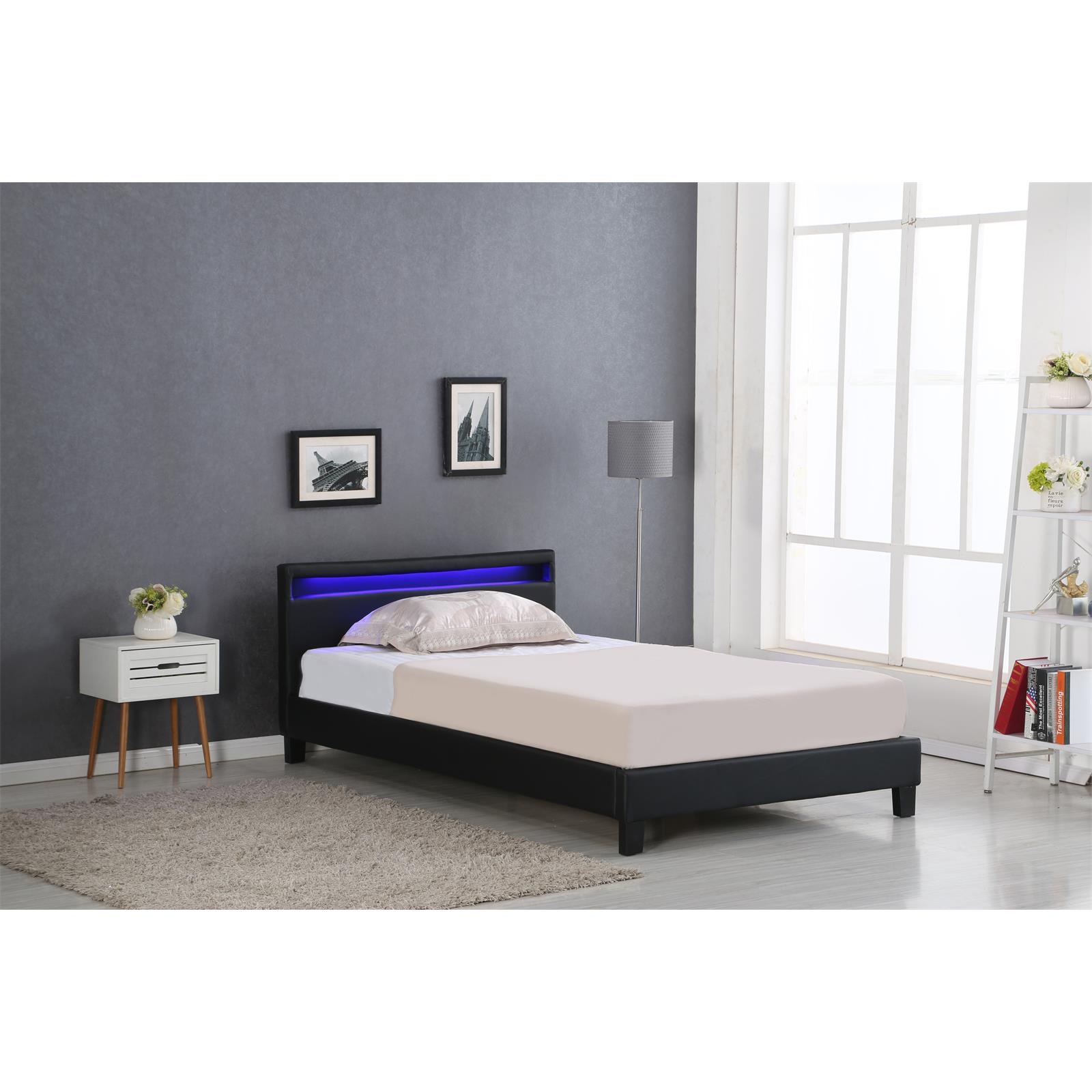 polsterbett mirasol mit led 120 x 200 cm inkl lattenrost caro m bel. Black Bedroom Furniture Sets. Home Design Ideas