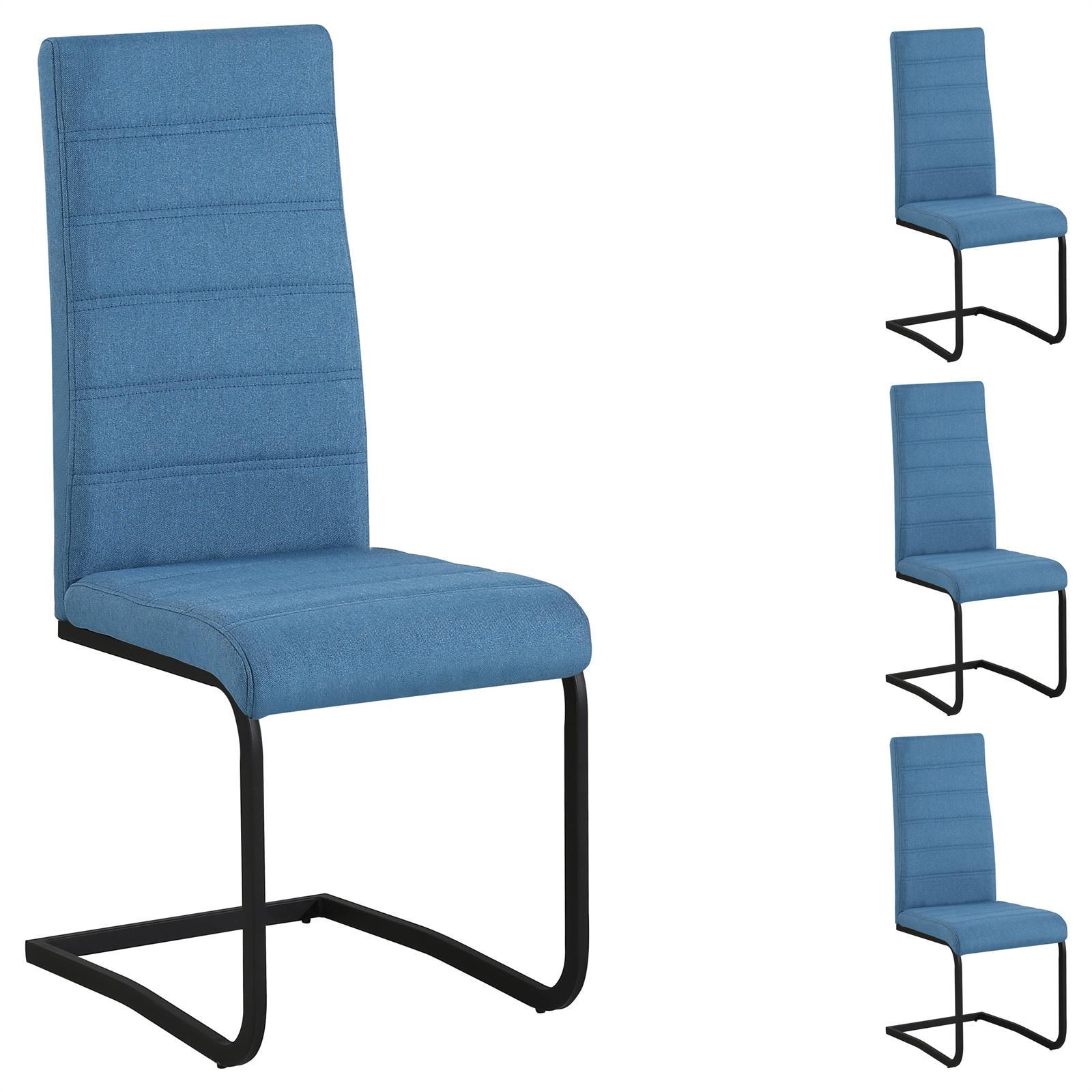 esszimmerst hle salinas im 4er set in blau caro m bel. Black Bedroom Furniture Sets. Home Design Ideas