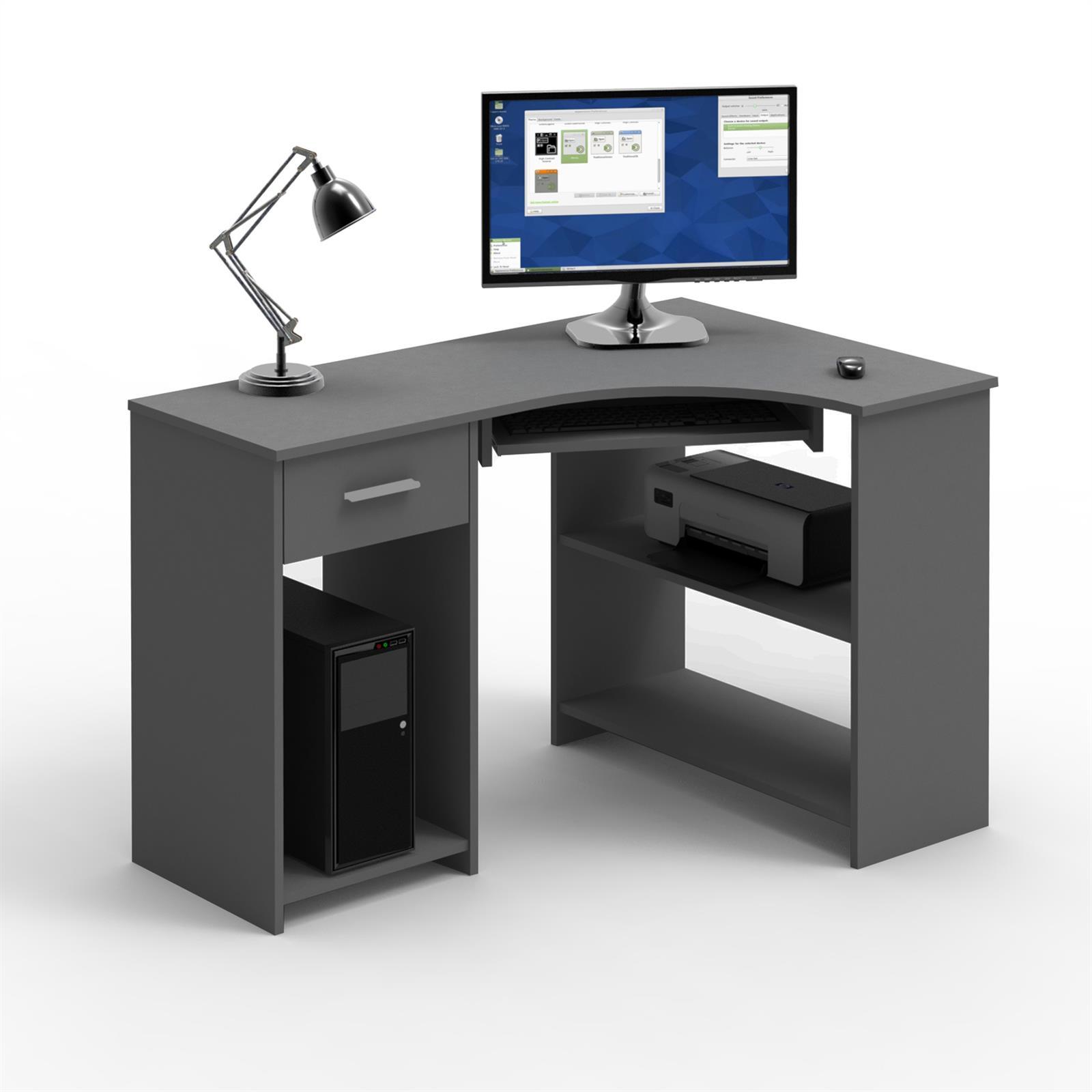 eckschreibtisch silvia in grau mit tastaturauszug caro m bel. Black Bedroom Furniture Sets. Home Design Ideas