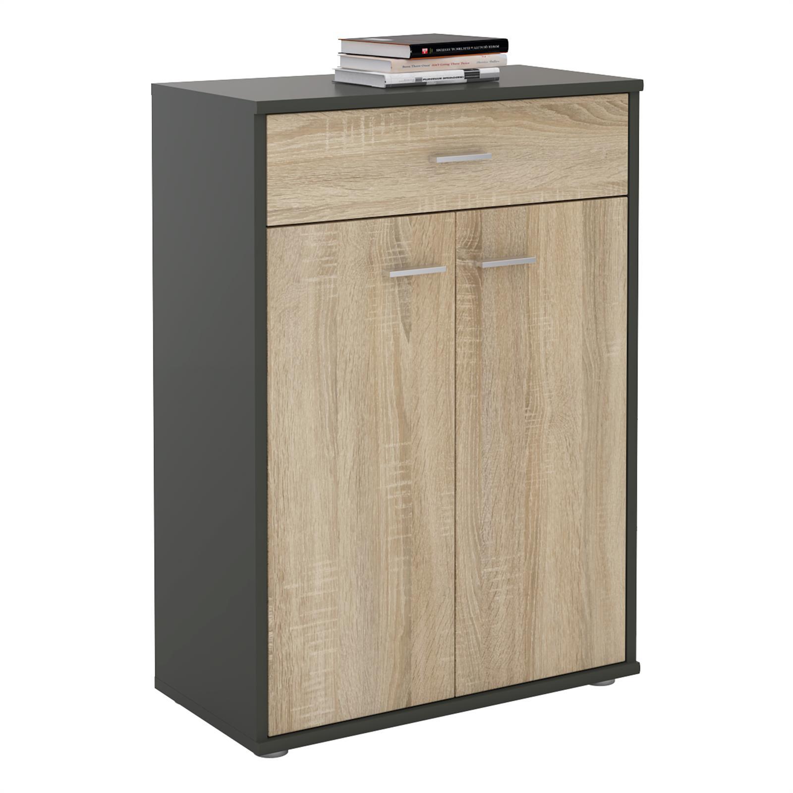 kommode tommy grau sonoma eiche mit schublade caro m bel. Black Bedroom Furniture Sets. Home Design Ideas
