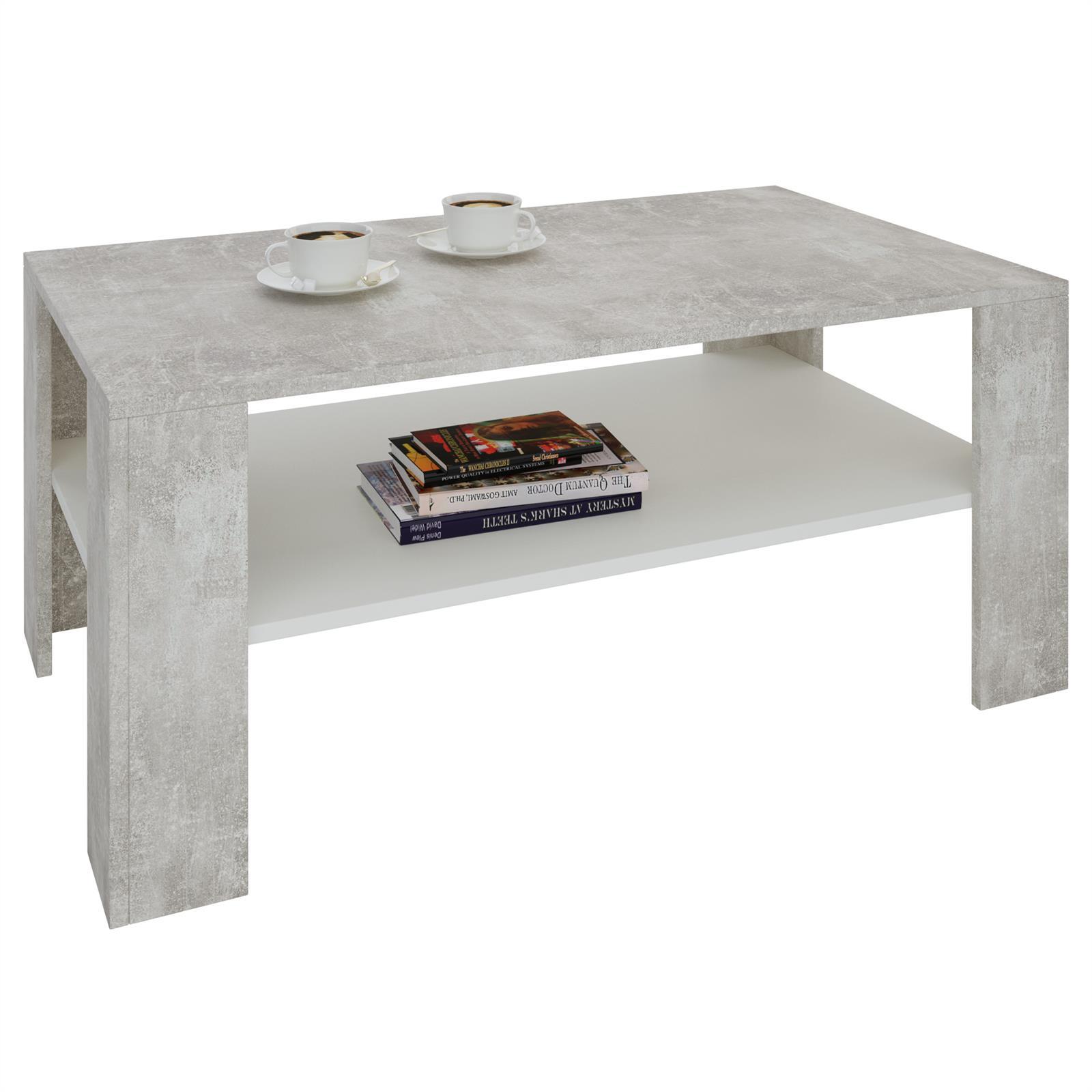 couchtisch animo in betonoptik wei 100 cm breit caro m bel. Black Bedroom Furniture Sets. Home Design Ideas