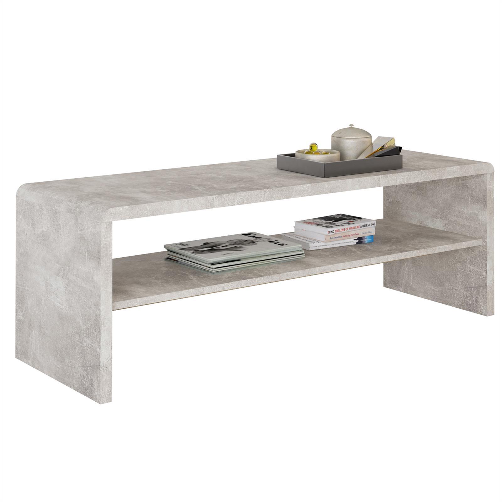 tv lowboard couchtisch lexa in betonoptik caro m bel. Black Bedroom Furniture Sets. Home Design Ideas