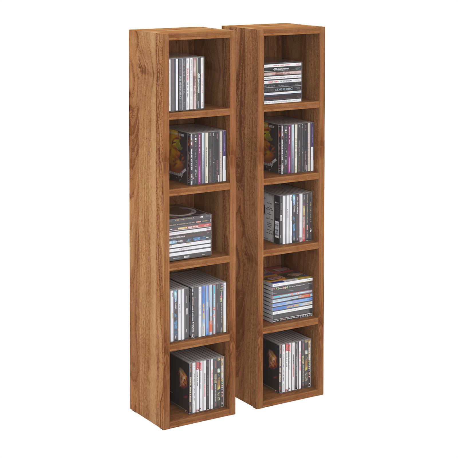 cd dvd regal chart mit 10 f chern in nussbaum caro m bel. Black Bedroom Furniture Sets. Home Design Ideas