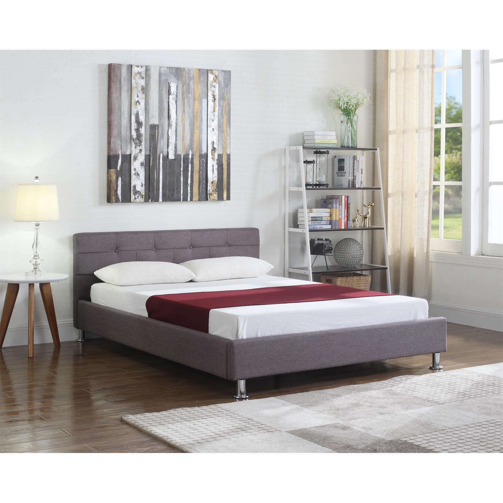 doppelbett 140x200 cm inkl lattenrost polsterbett bettgestell bettrahmen ehe ebay. Black Bedroom Furniture Sets. Home Design Ideas