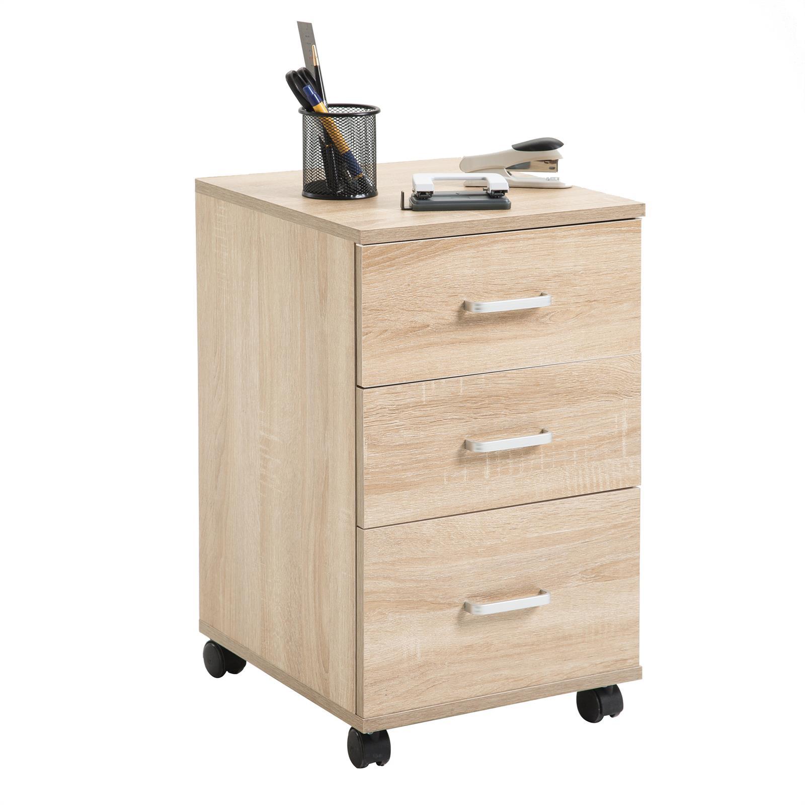 rollcontainer b rocontainer schrank element wagen rollbar mit 3 schubladen ebay. Black Bedroom Furniture Sets. Home Design Ideas