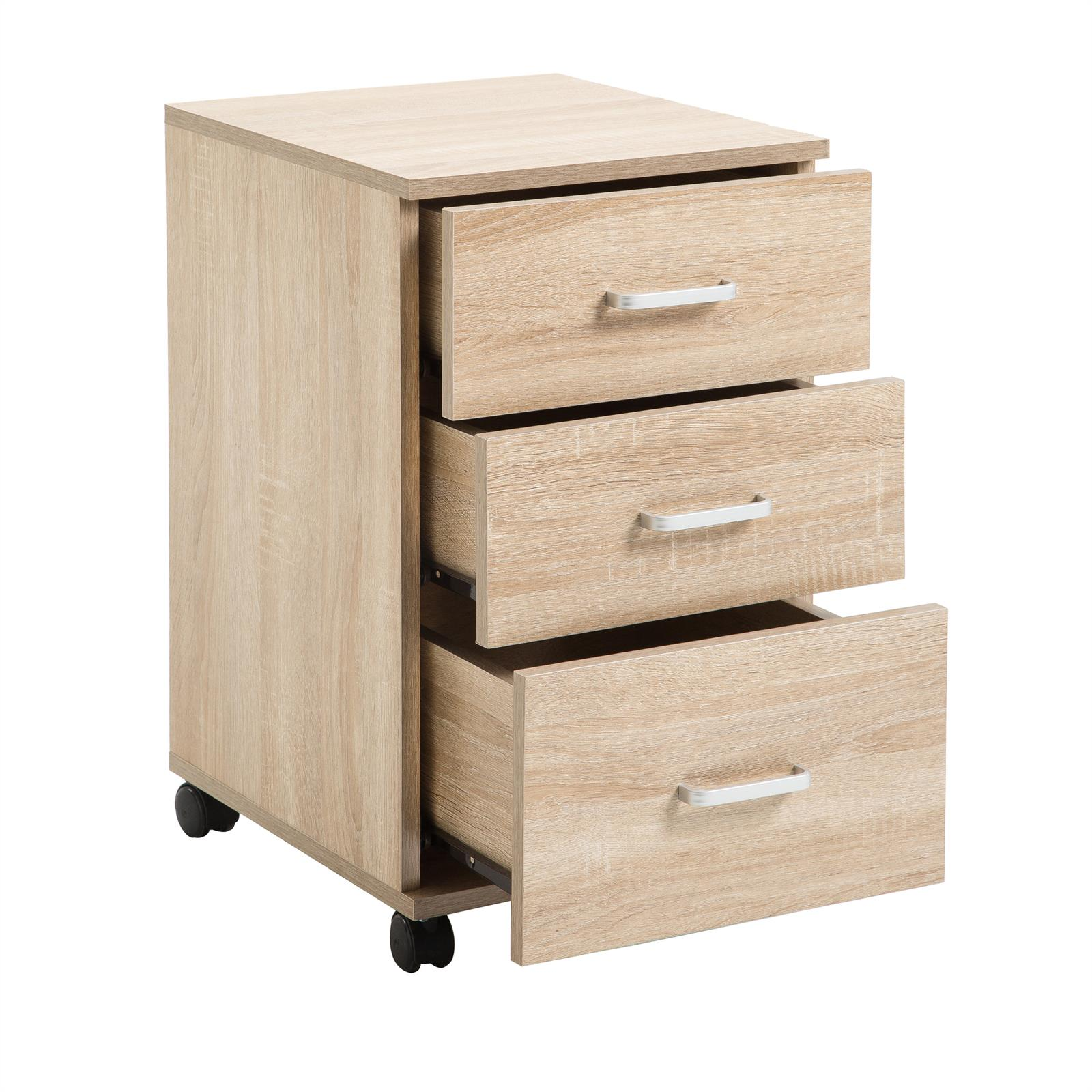 rollcontainer jupiter 3 schubladen in sonoma eiche caro. Black Bedroom Furniture Sets. Home Design Ideas