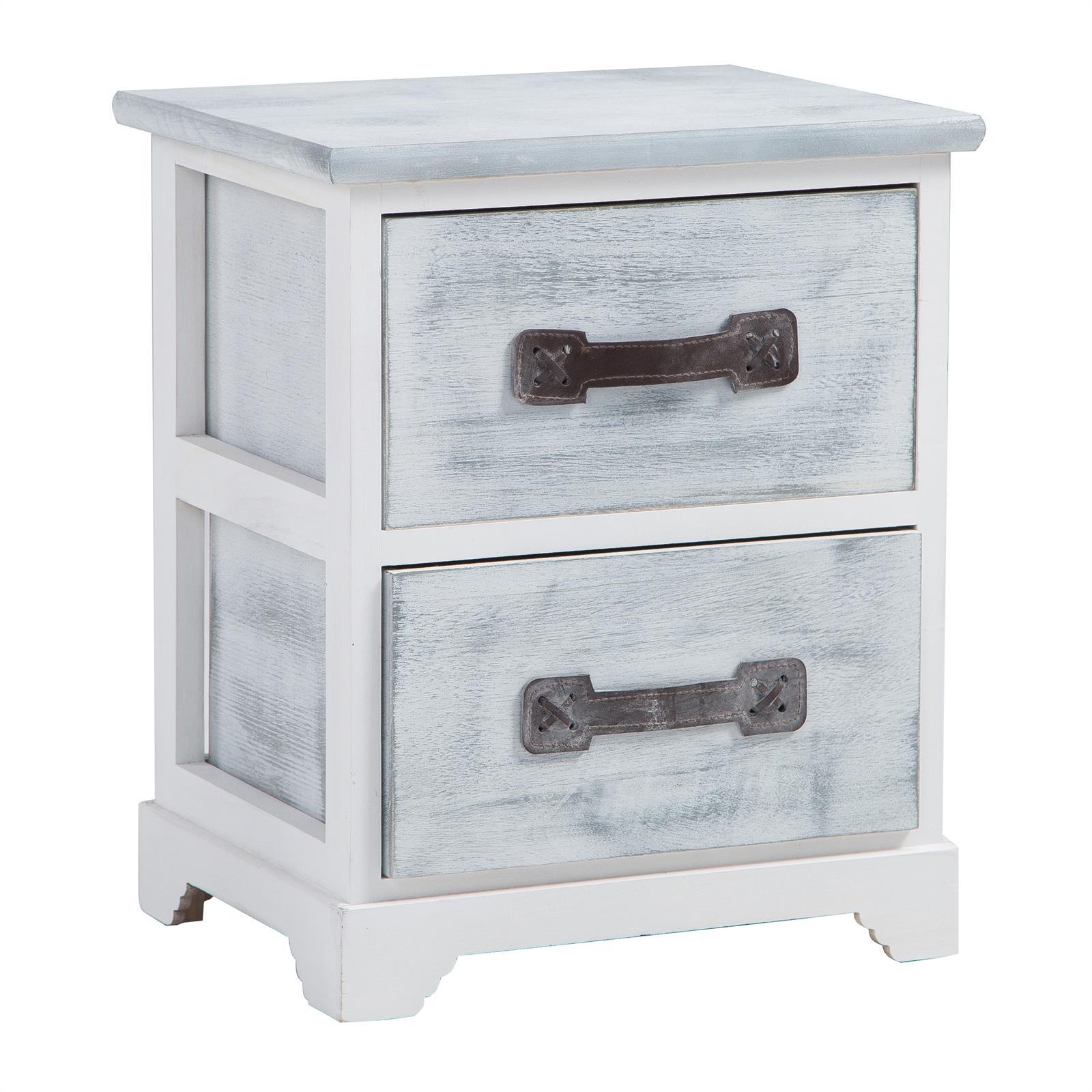 nachttisch salerno grau wei 2 schubladen caro m bel. Black Bedroom Furniture Sets. Home Design Ideas