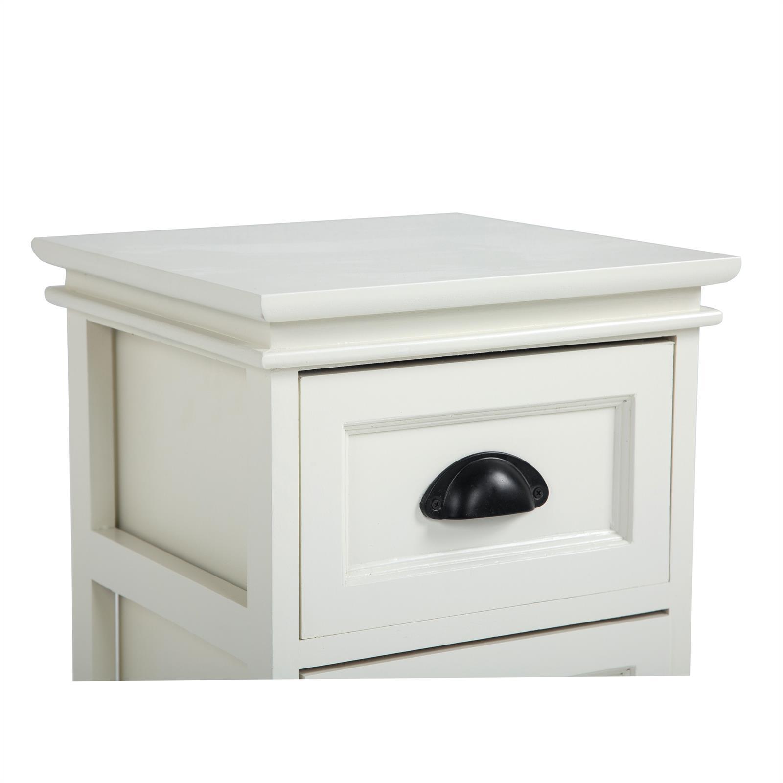 nachttisch landhaus wei mit 2 schubladen caro m bel. Black Bedroom Furniture Sets. Home Design Ideas