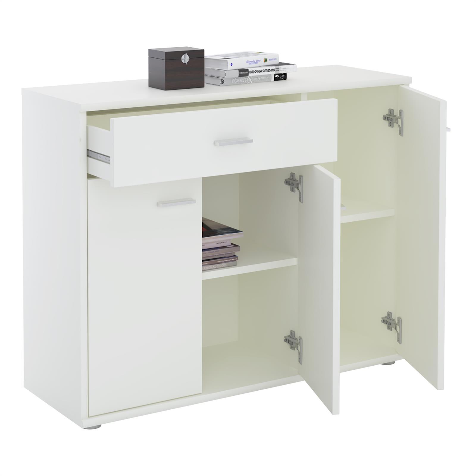 kommode estelle mit 3 t ren 1 schublade in wei caro m bel. Black Bedroom Furniture Sets. Home Design Ideas