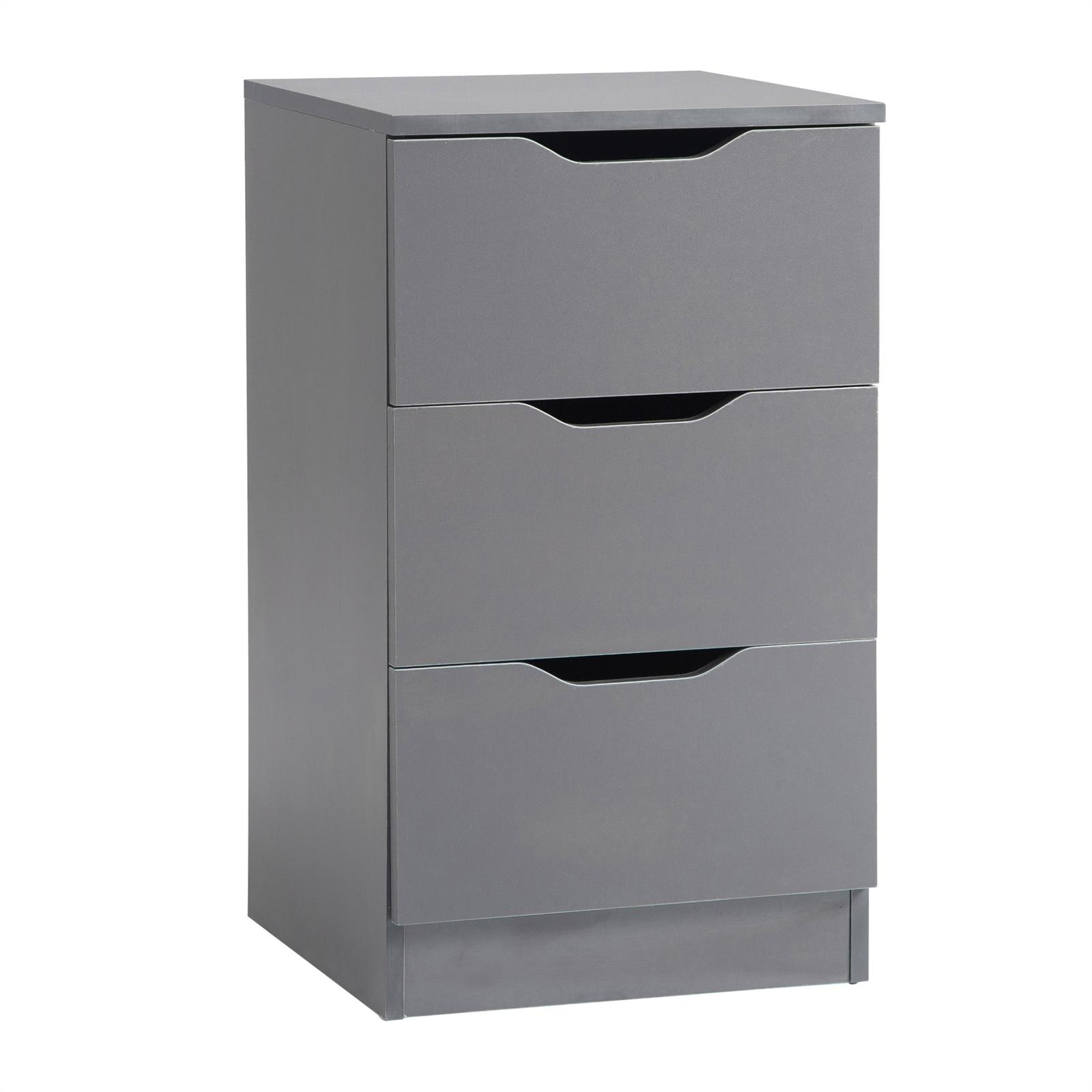 nachttisch nachtkommode nachtschrank f r boxspringbett konsole 3 schubladen ebay. Black Bedroom Furniture Sets. Home Design Ideas