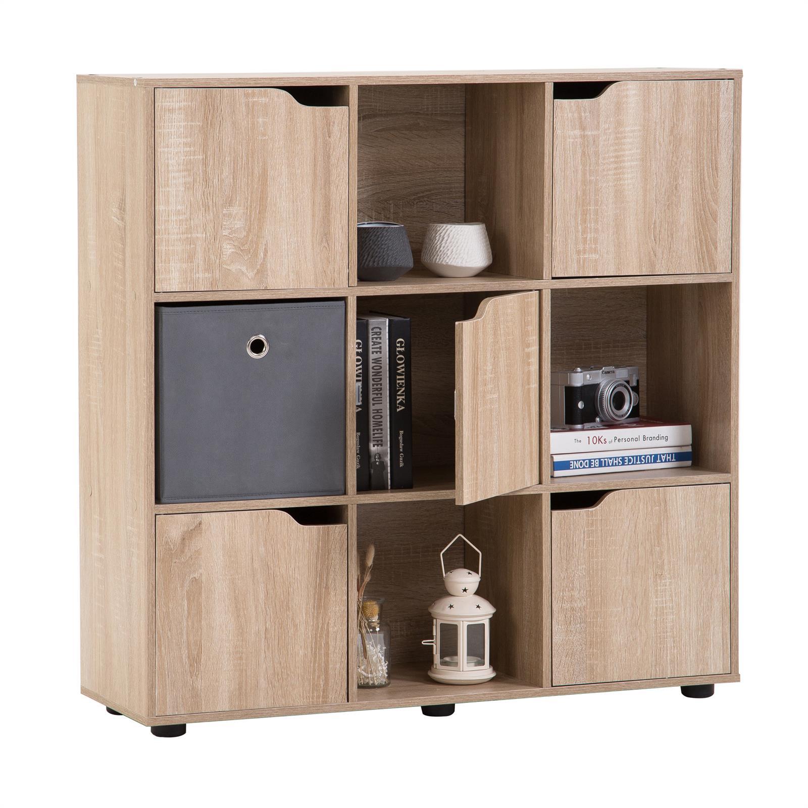 Bücherregal Raumteiler Trenner Schrank Regalwürfel mit Türen in 2 ...