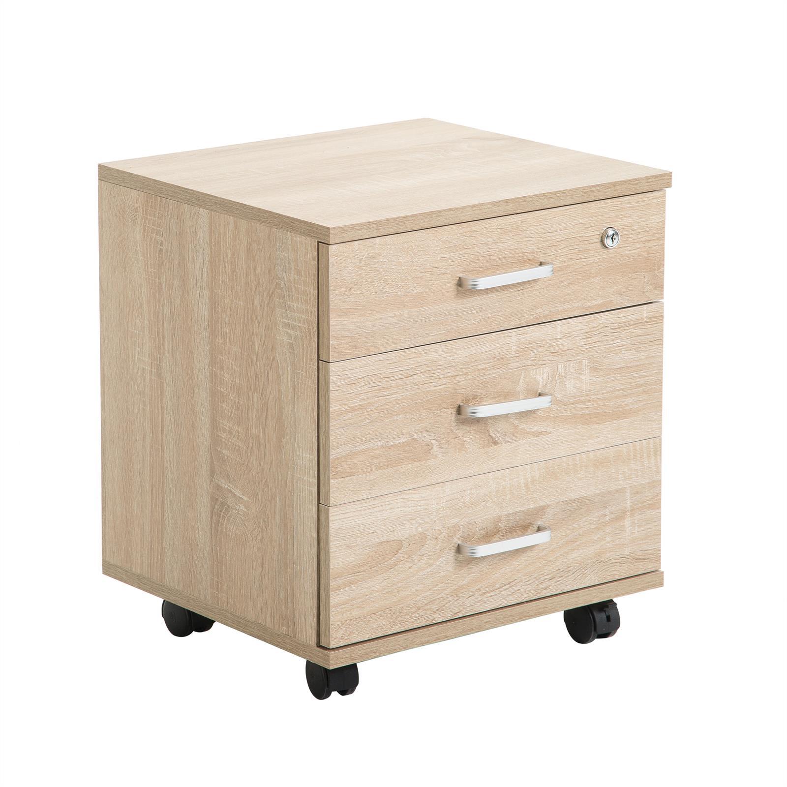 rollcontainer saturn mit 3 schubladen in sonoma eiche caro m bel. Black Bedroom Furniture Sets. Home Design Ideas