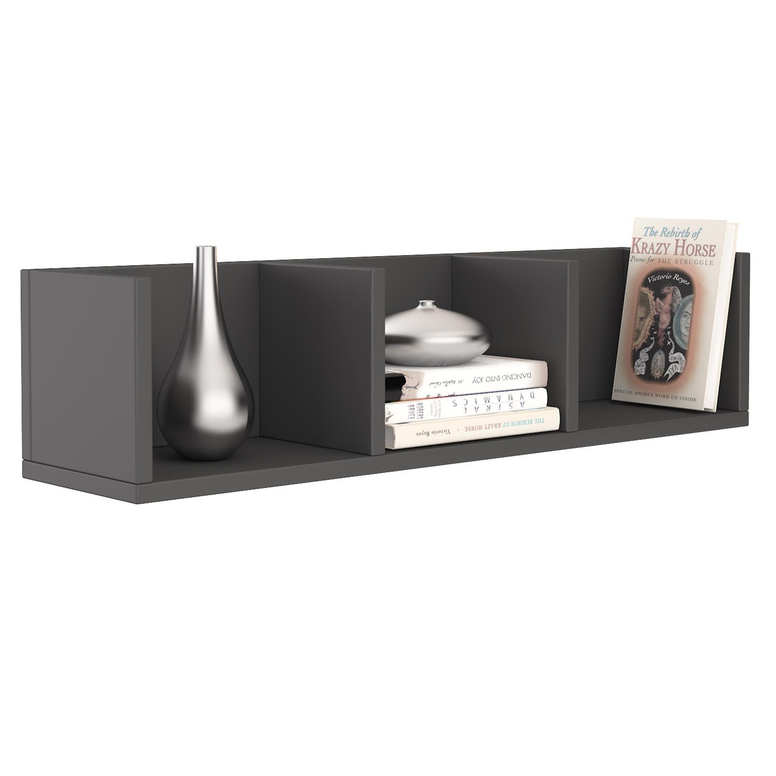 cd dvd regal wandregal h ngeregal deko b cher mit 3 ablagen 7 farben ebay. Black Bedroom Furniture Sets. Home Design Ideas