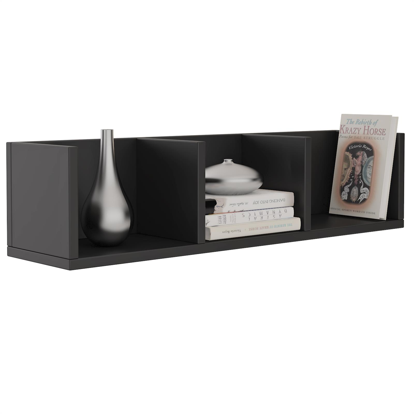cd dvd regal stars mit 3 f chern in schwarz caro m bel. Black Bedroom Furniture Sets. Home Design Ideas