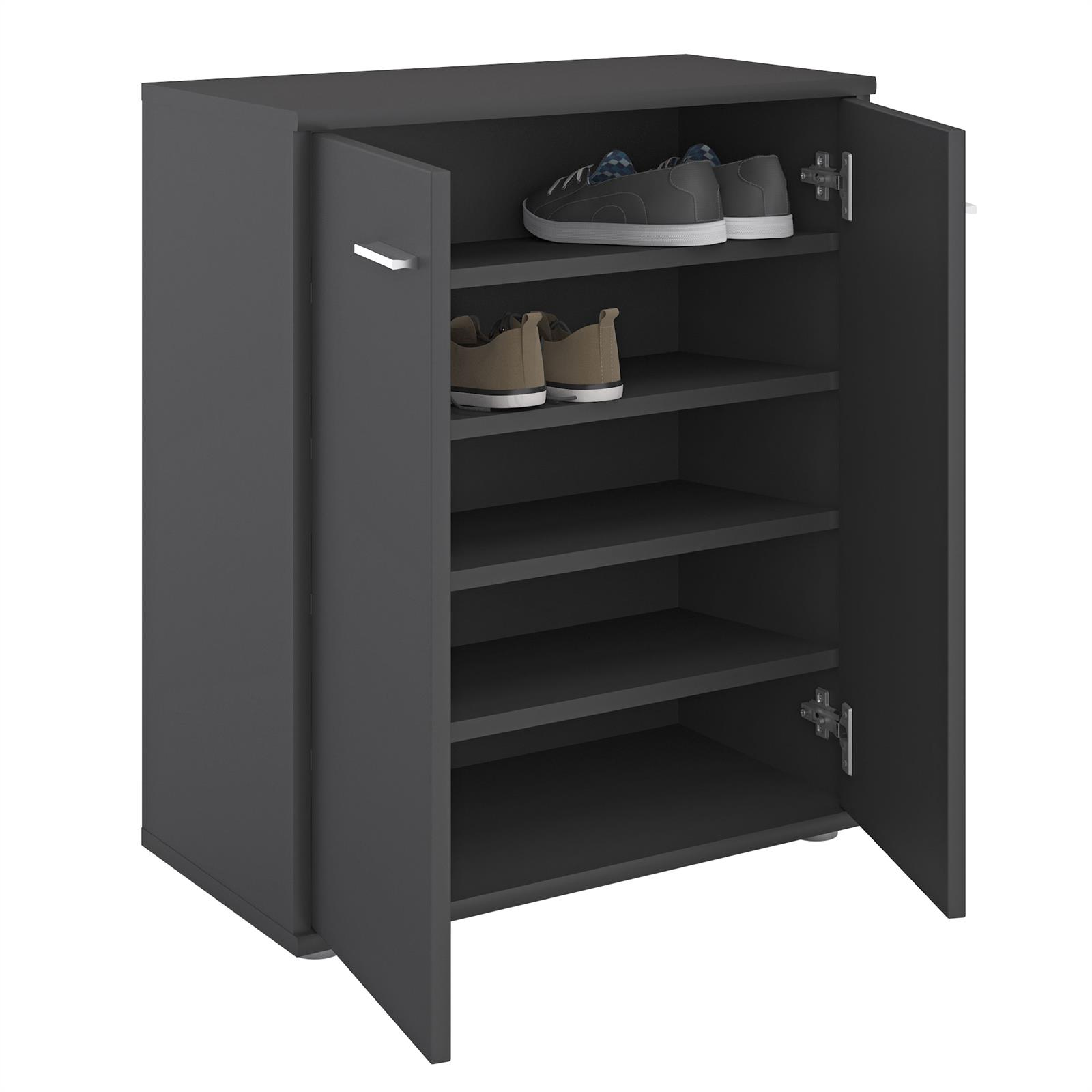 schuhschrank lennis 2 t ren in grau caro m bel. Black Bedroom Furniture Sets. Home Design Ideas