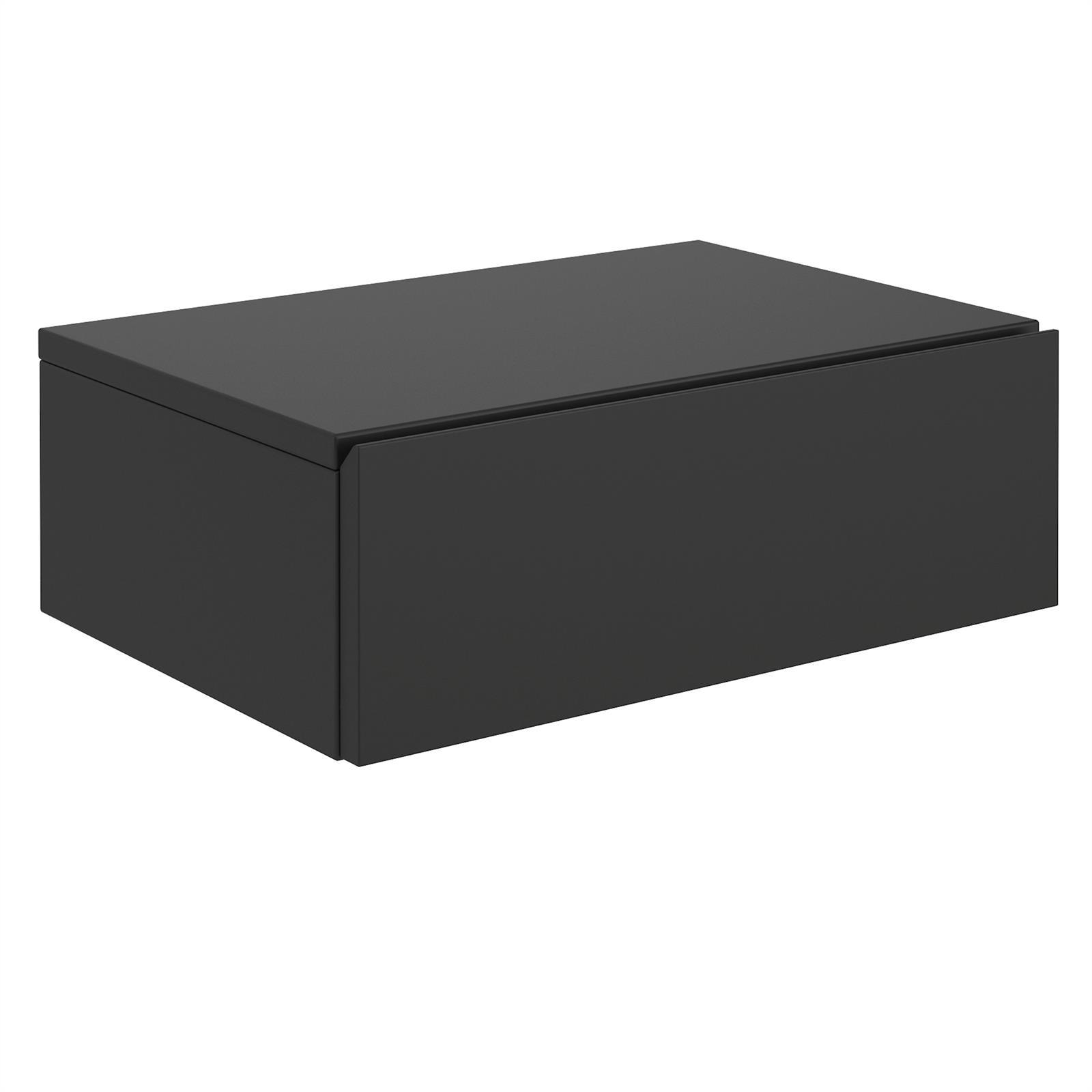 wandregal mit schublade nachtkommode h ngend wandboard h ngeregal ebay. Black Bedroom Furniture Sets. Home Design Ideas