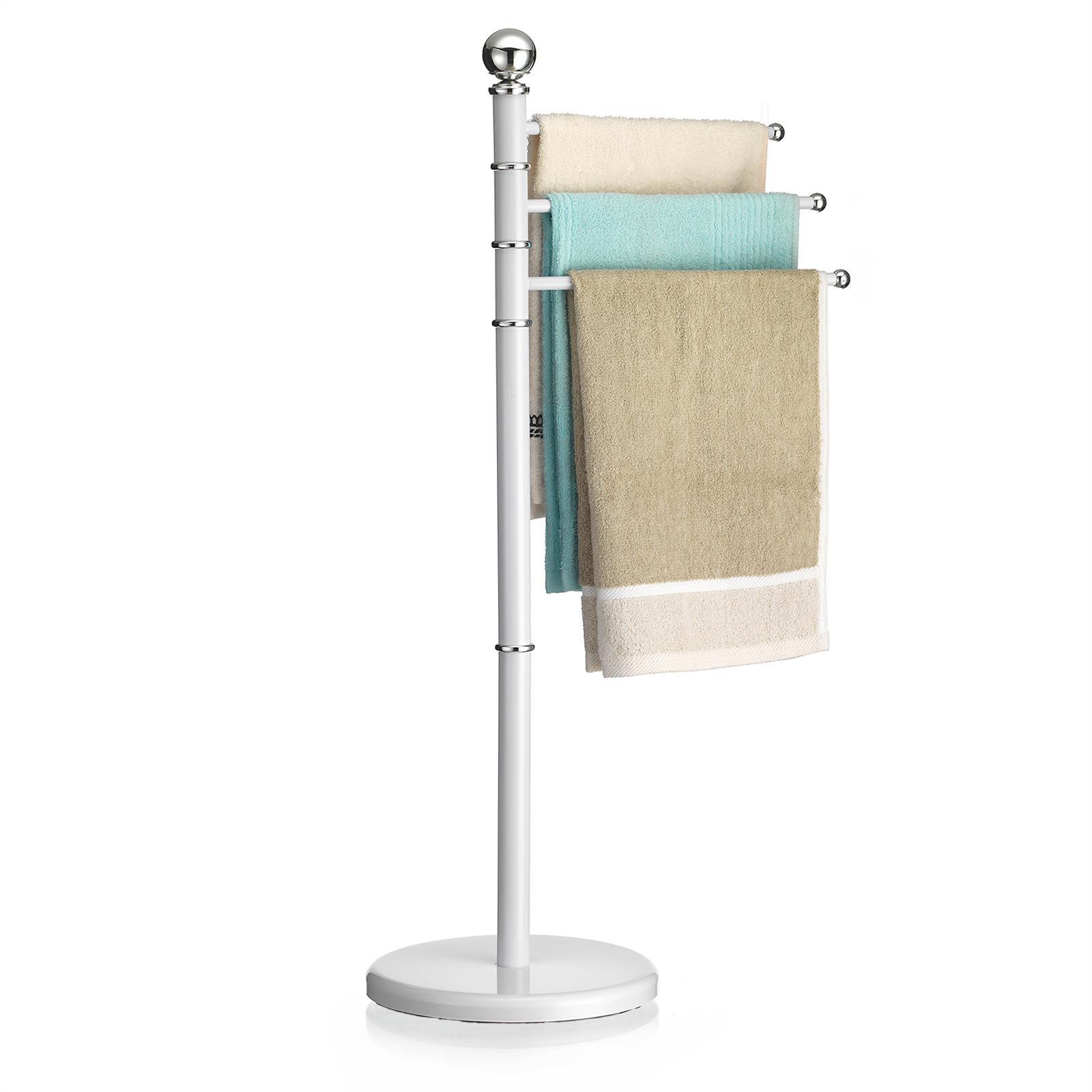 handtuchhalter handtuchst nder badetuch stand halter design 3 bewegliche arme ebay. Black Bedroom Furniture Sets. Home Design Ideas
