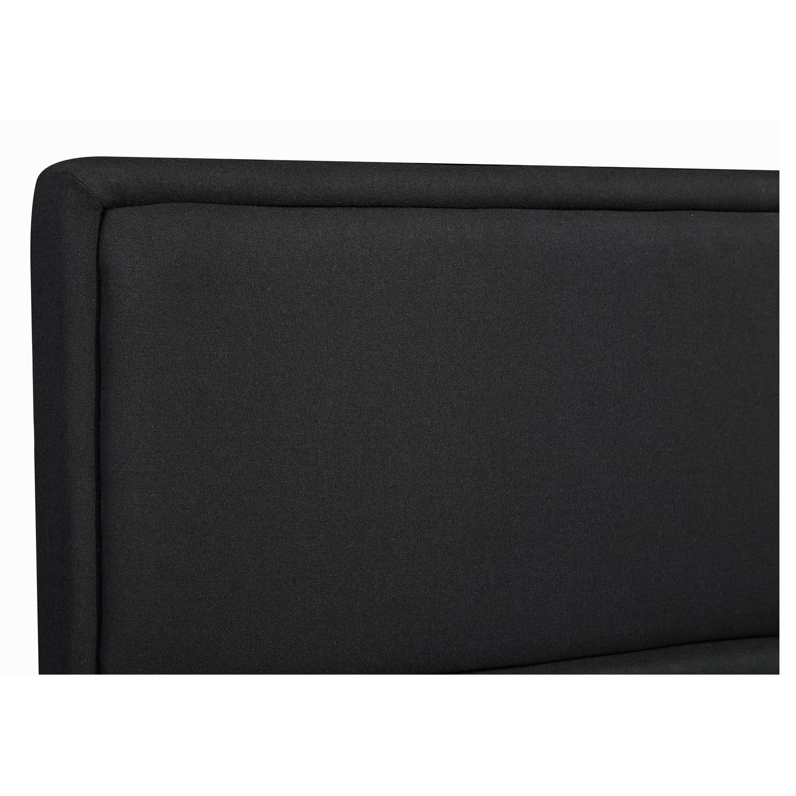 polsterbett anais 140x200 cm inkl rollrost schwarz caro m bel. Black Bedroom Furniture Sets. Home Design Ideas