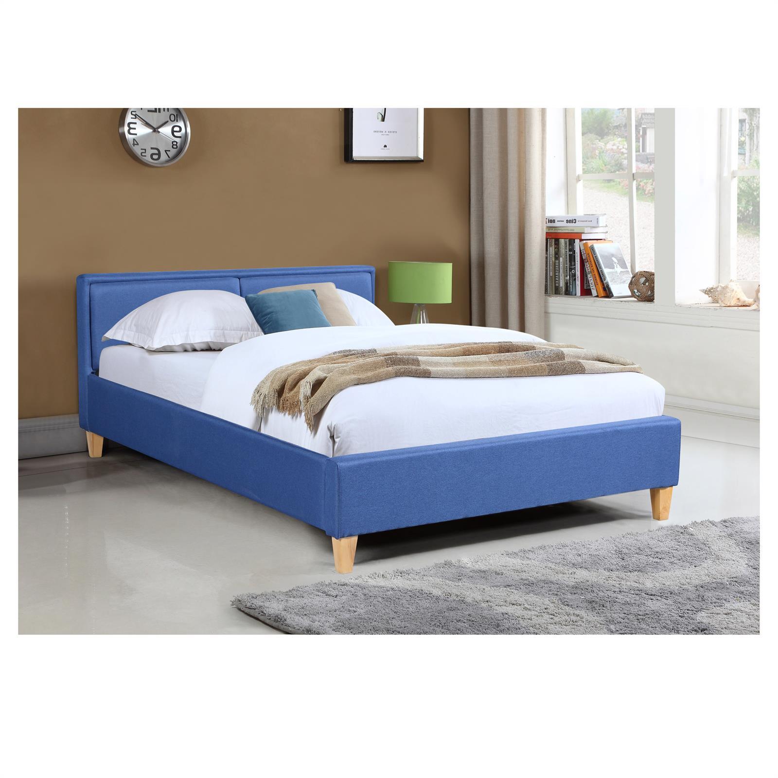 polsterbett doppelbett 140x200 cm inkl rollrost. Black Bedroom Furniture Sets. Home Design Ideas