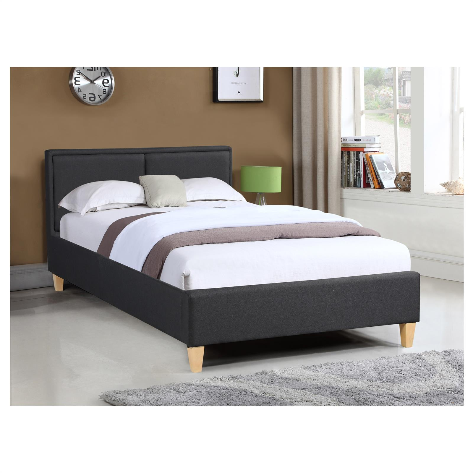 Polsterbett einzelbett 120x200 cm inkl rollrost for Einzelbett 120x200