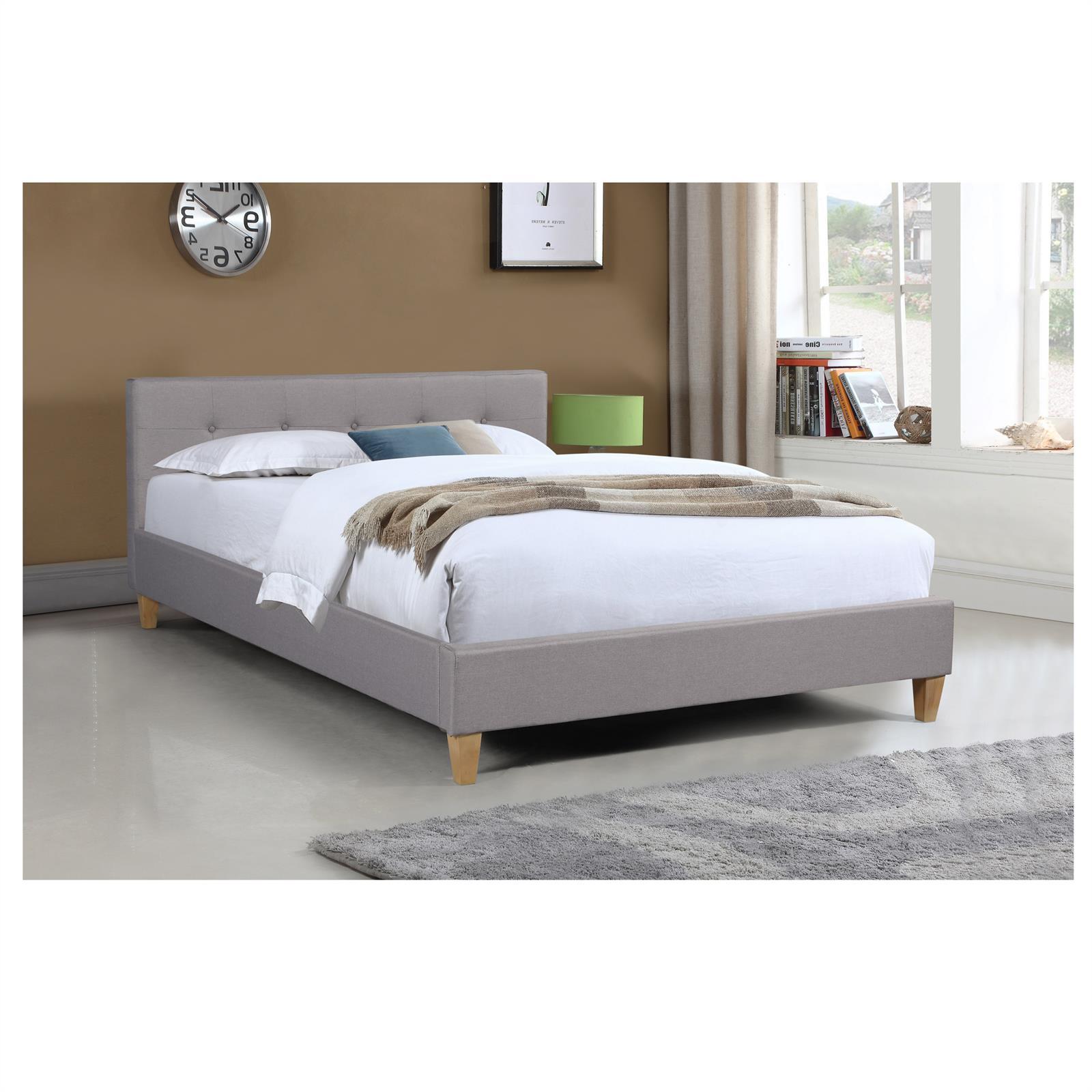 polsterbett doppelbett bettgestell 140x200 cm rollrost ehebett designbett ebay. Black Bedroom Furniture Sets. Home Design Ideas